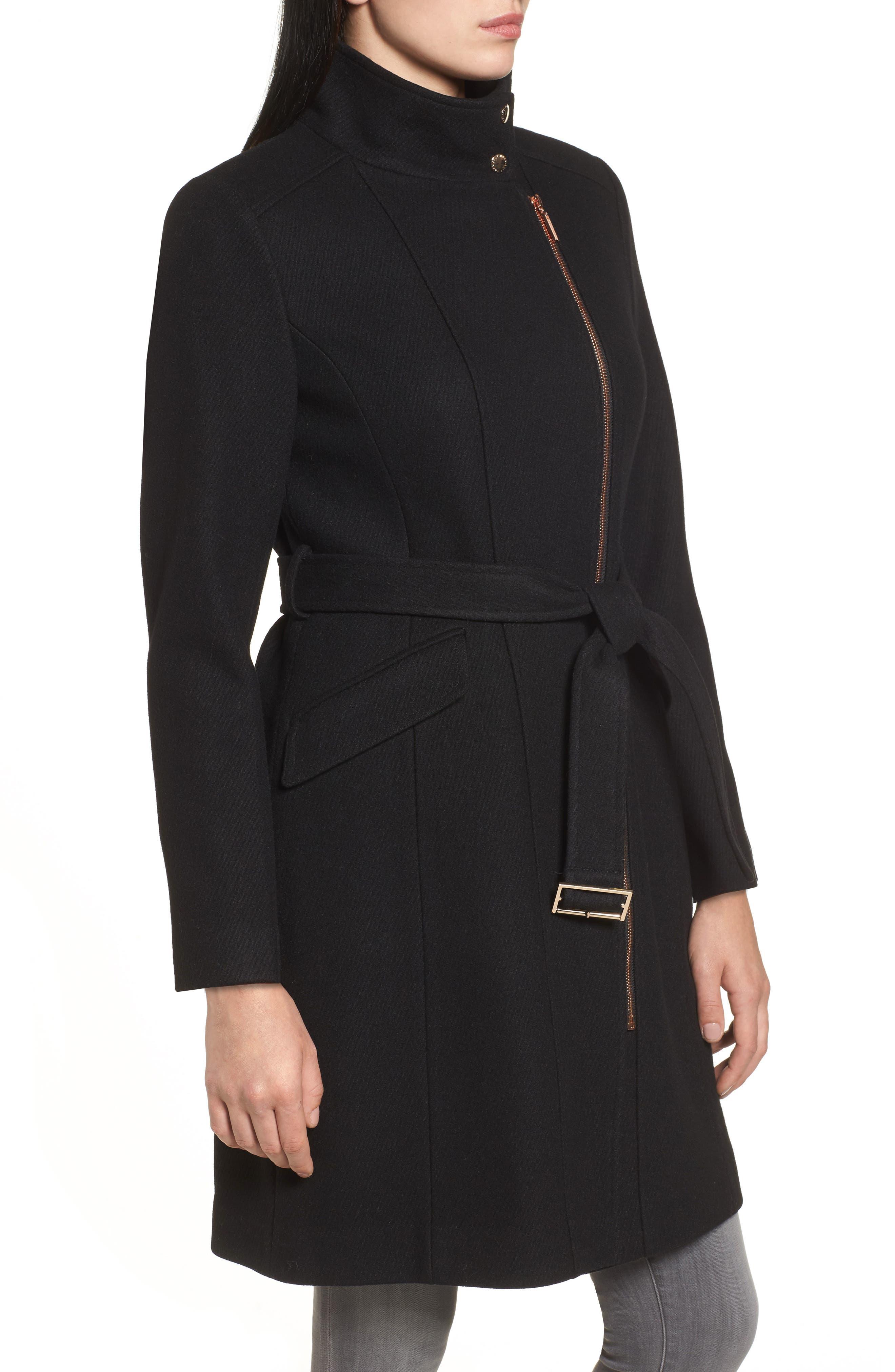 Coat,                             Alternate thumbnail 3, color,                             Black