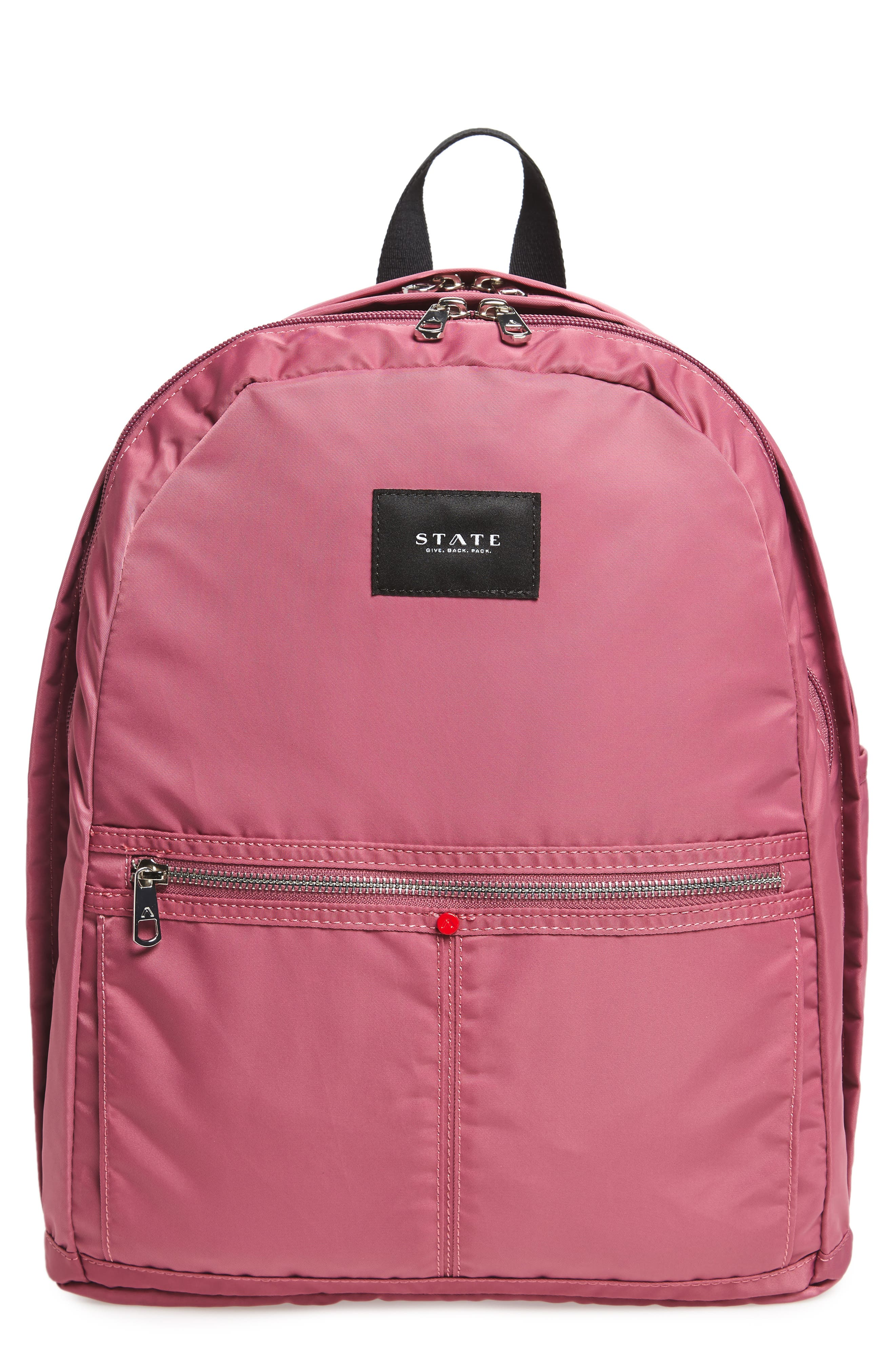 The Heights Kent Backpack,                         Main,                         color, Red Violet
