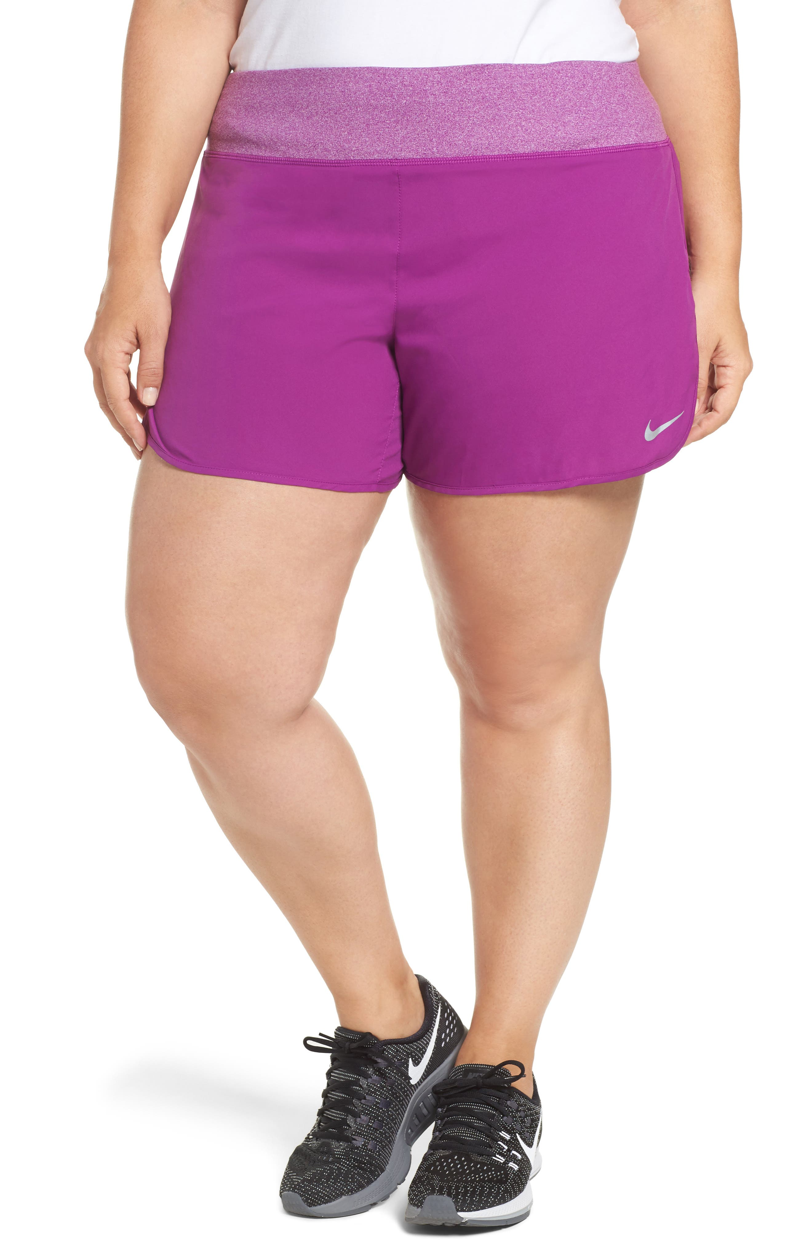 Alternate Image 1 Selected - Nike Rival Running Shorts (Plus Size)