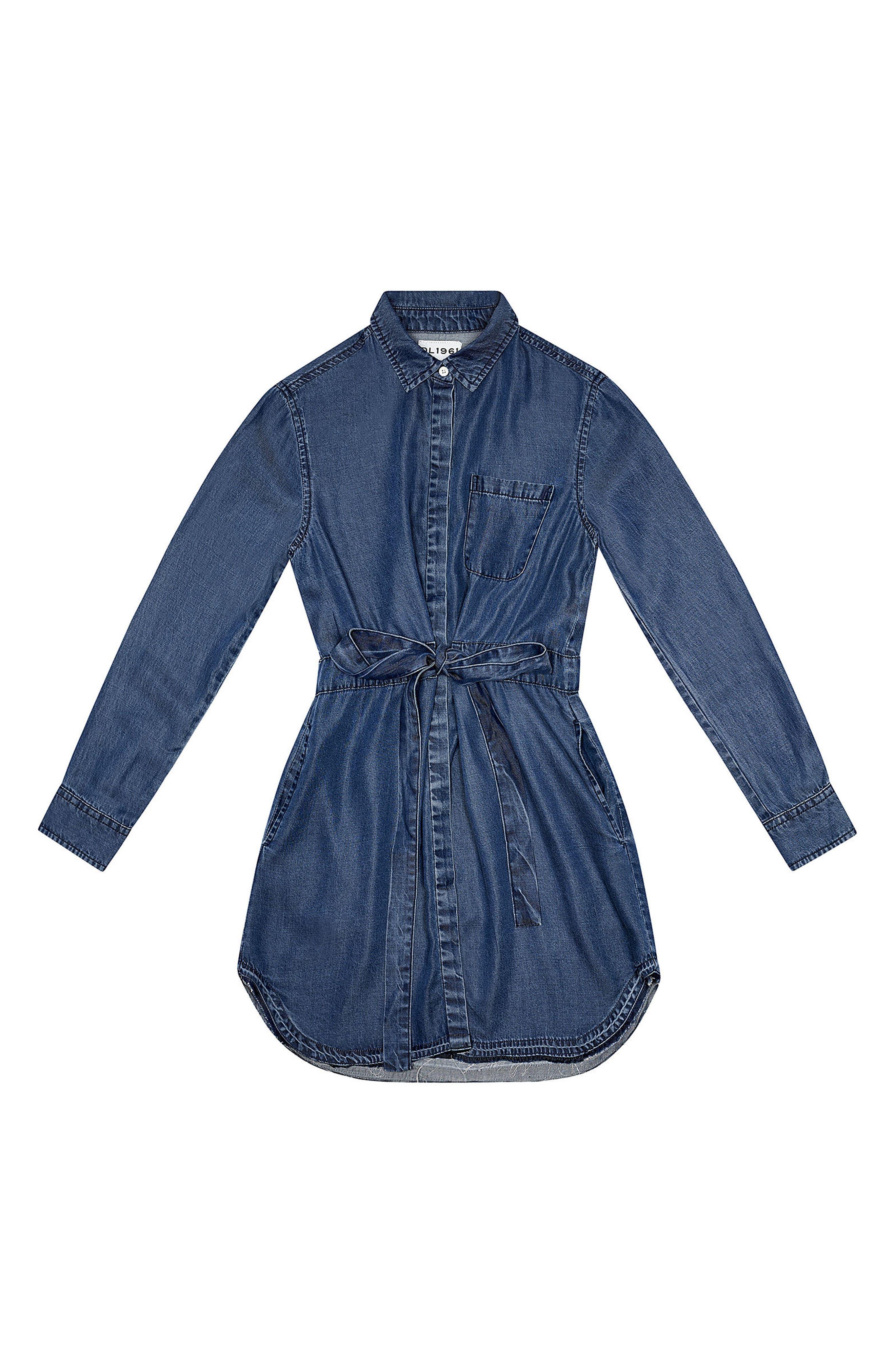 Chambray Shirtdress,                         Main,                         color, Chambray