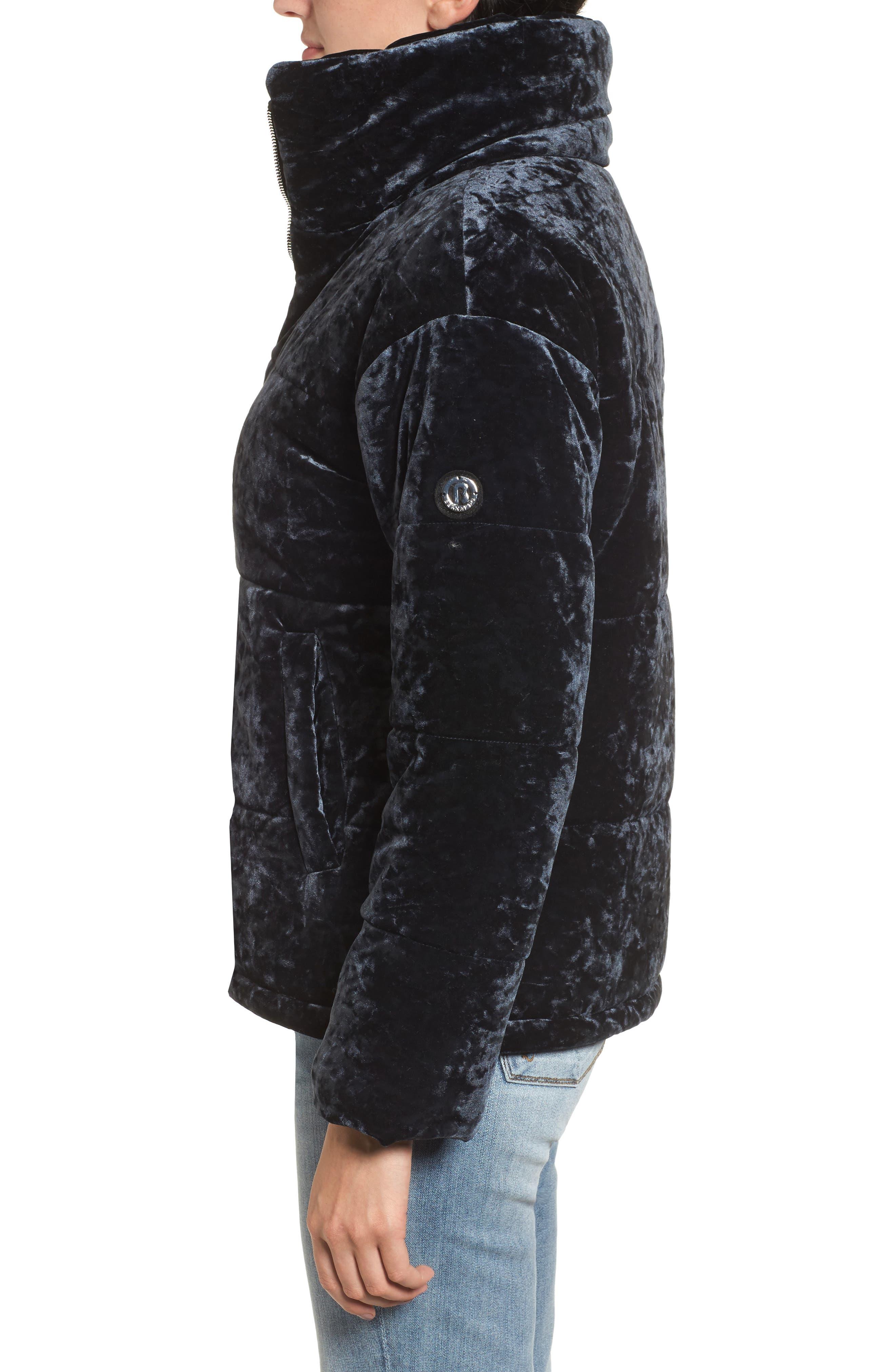 Alternate Image 3  - Bernardo Oversize Velvet Bomber Jacket