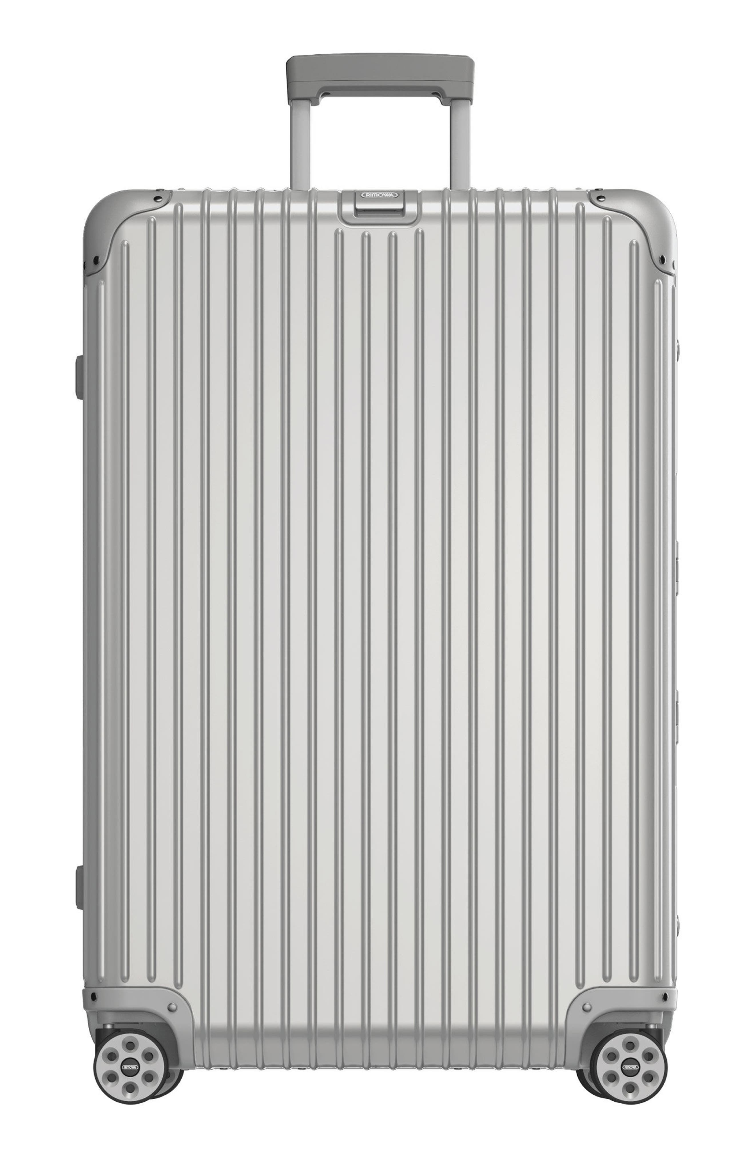 Topas 32-Inch Sport Multiwheel<sup>®</sup> Aluminum Packing Case with Electronic Tag,                             Main thumbnail 1, color,                             Silver