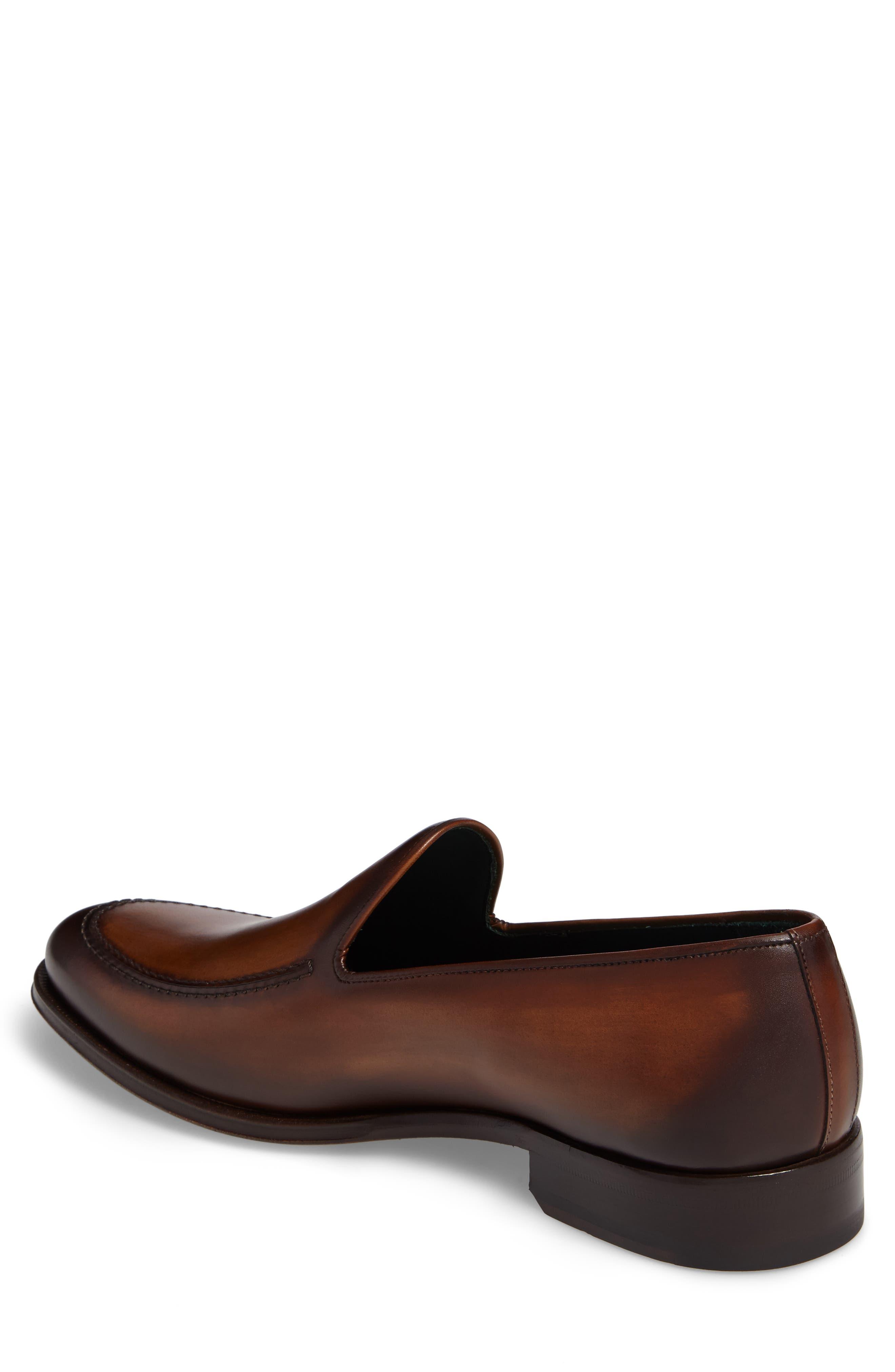 Rodin Apron Toe Loafer,                             Alternate thumbnail 2, color,                             Cognac Leather