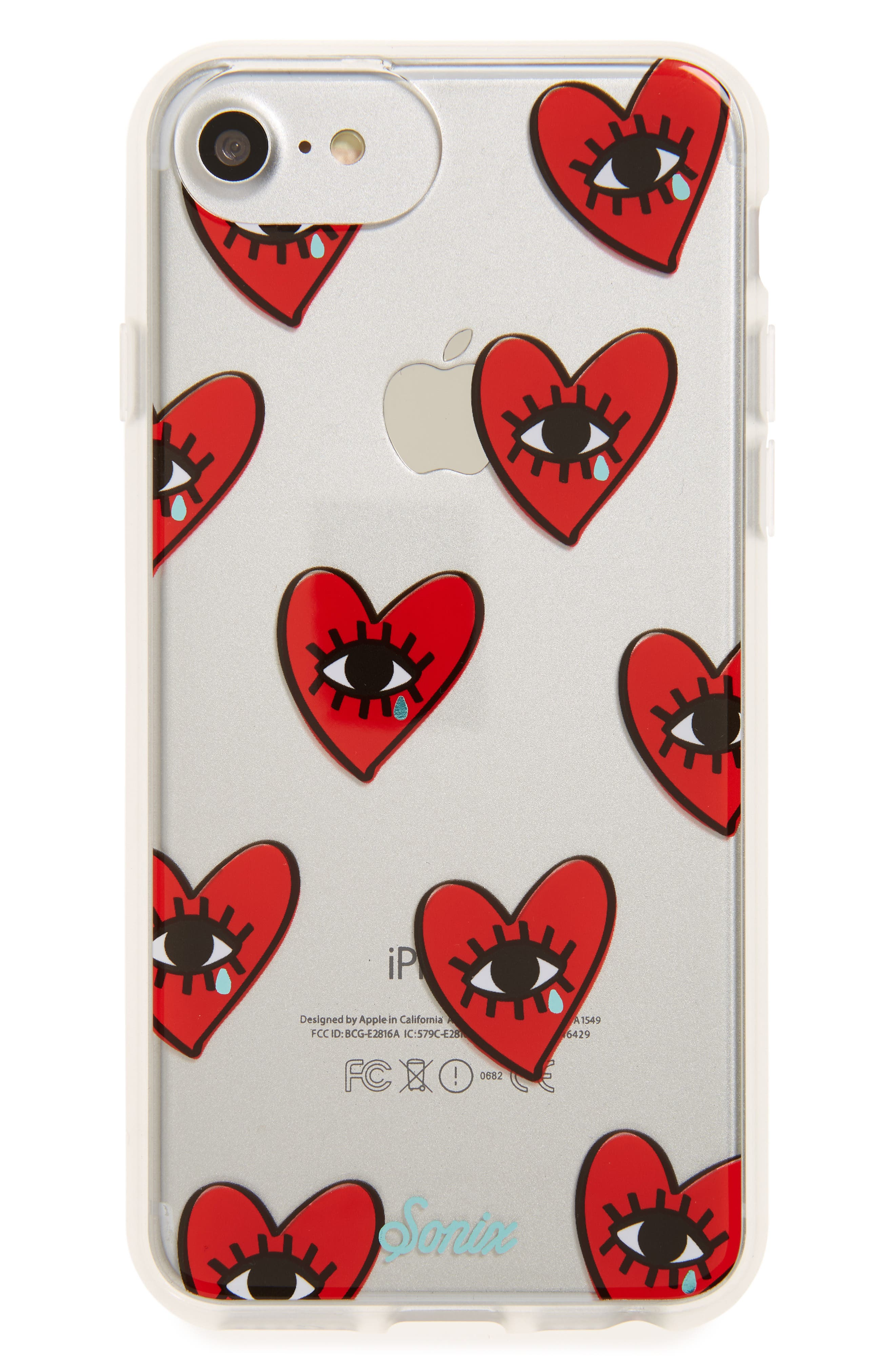 Cry Baby iPhone 6/6s/7/8 & 6/6s/7/8 Plus Case,                         Main,                         color, Red