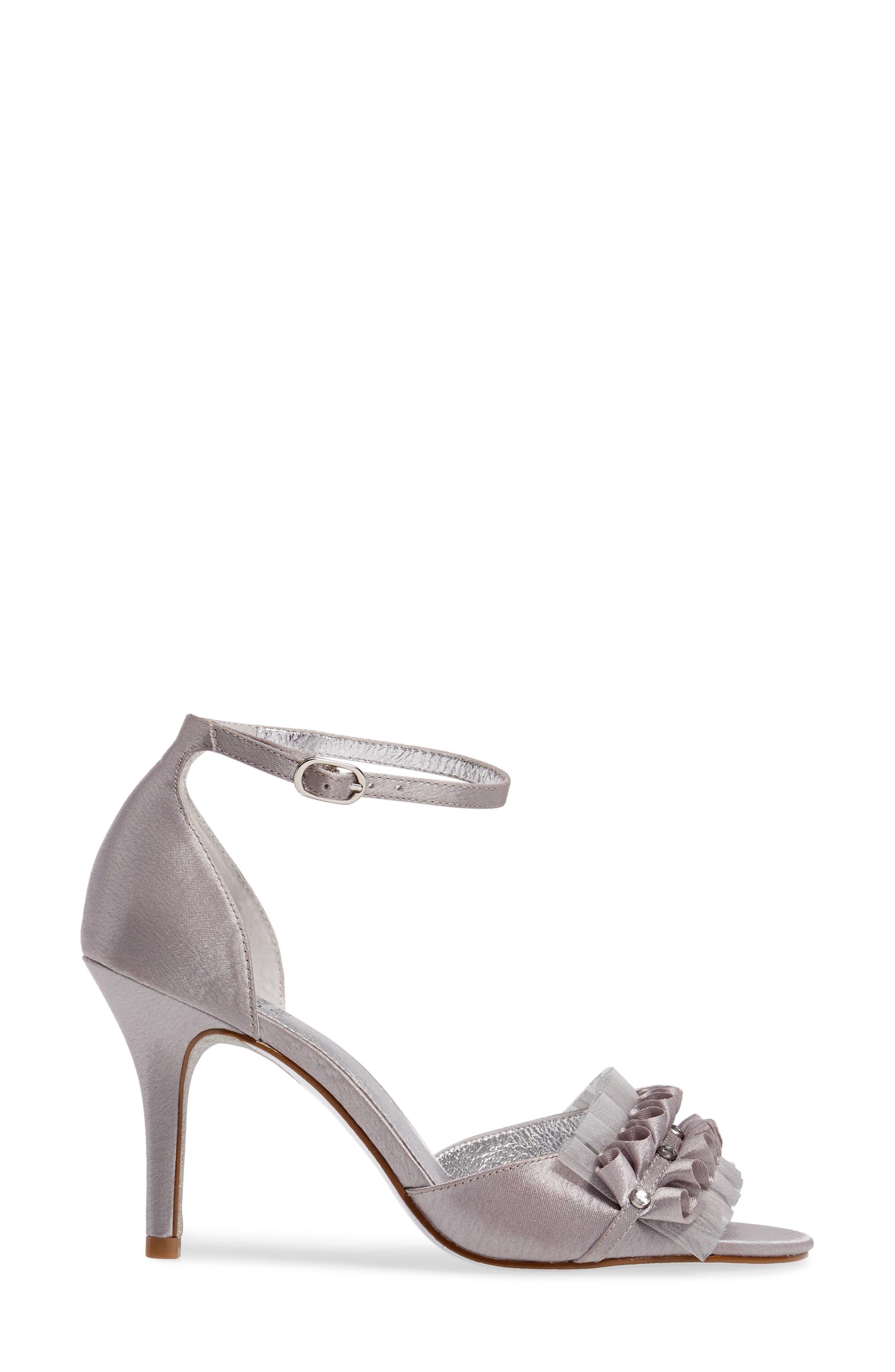 Alternate Image 3  - Adrianna Papell Alcott Chiffon Ruffle Sandal (Women)
