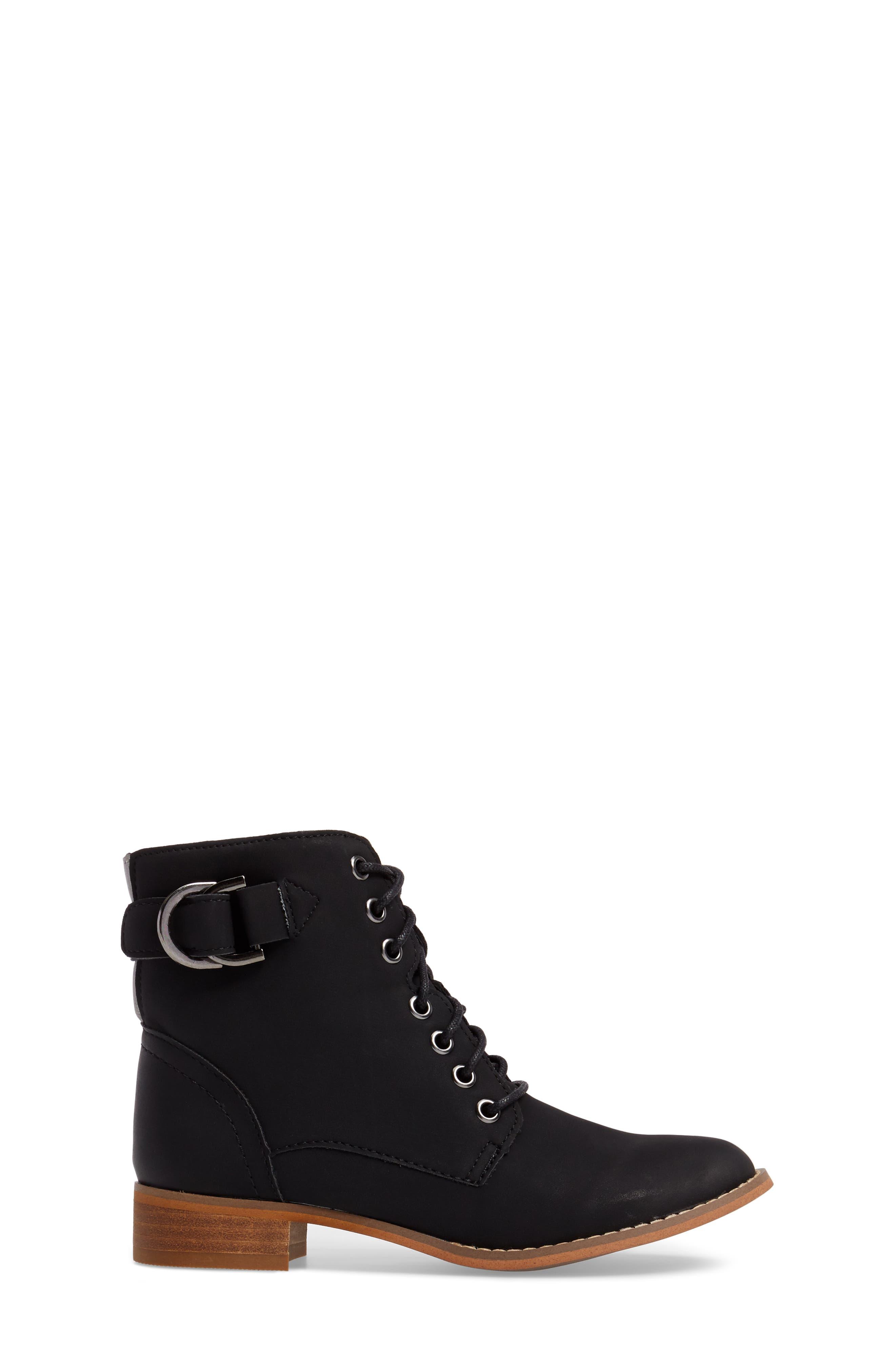 Drea Boot,                             Alternate thumbnail 3, color,                             Black Faux Leather