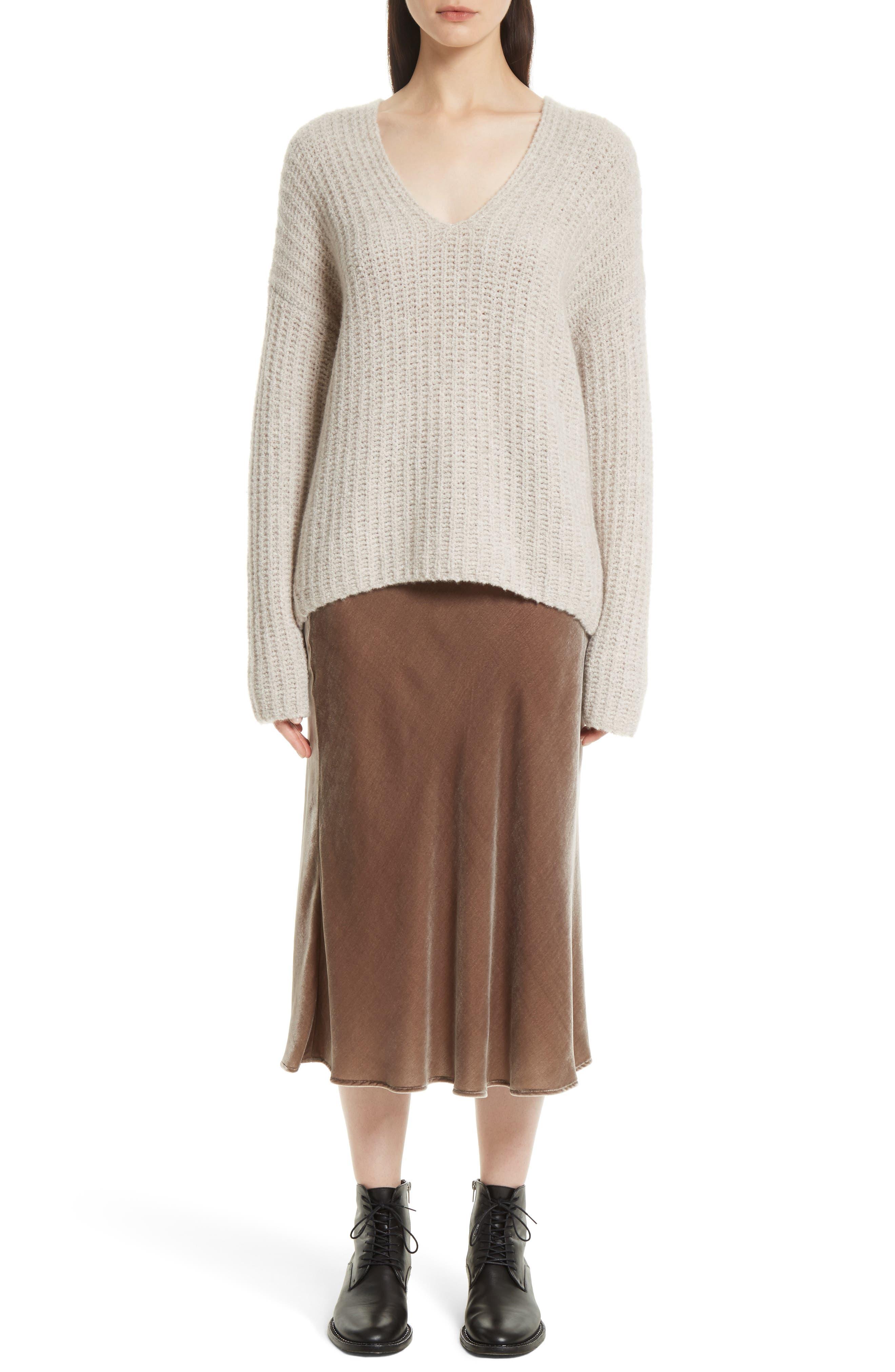 Alternate Image 2  - Vince Deep V-Neck Cashmere Blend Sweater