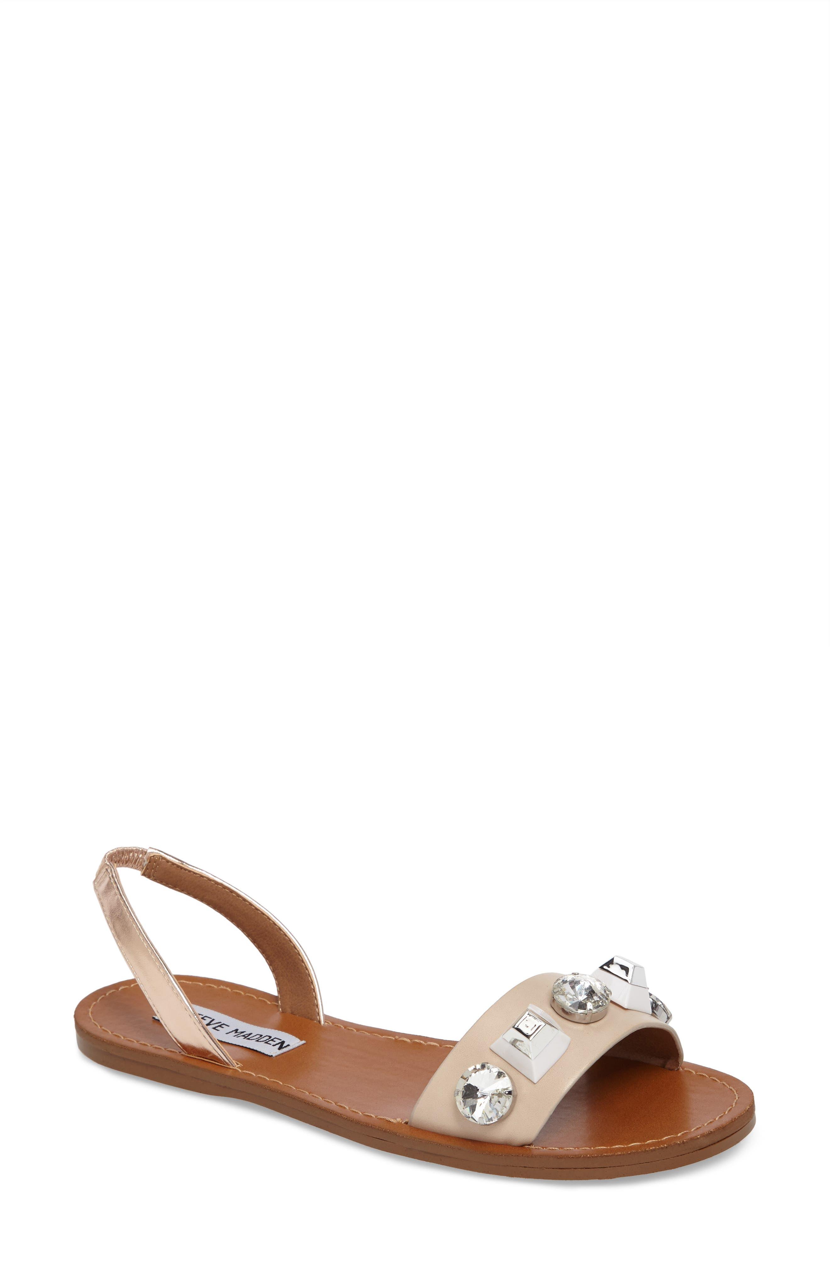 STEVE MADDEN Ameline Embellished Flat Sandal