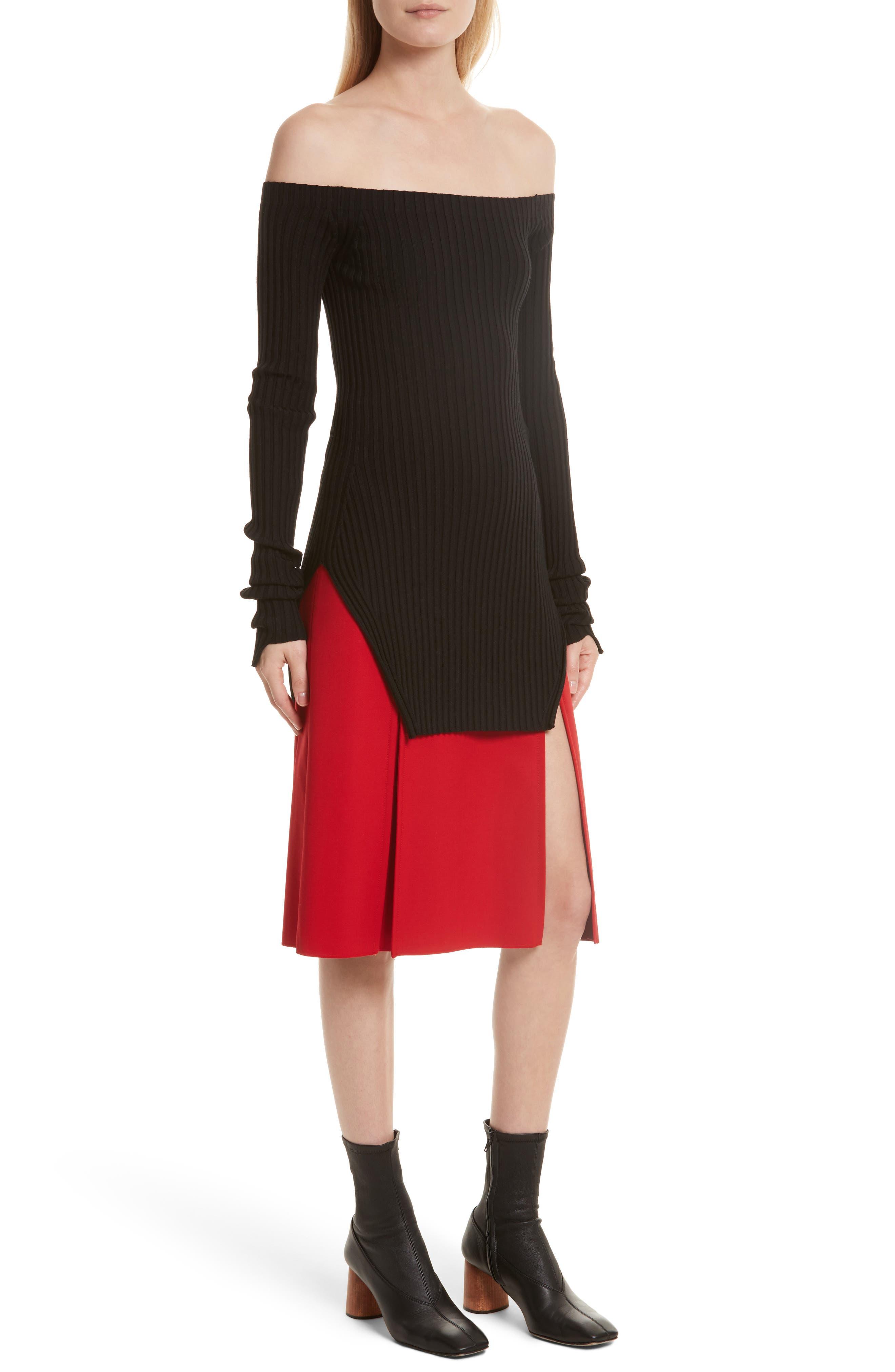 Alternate Image 5  - Helmut Lang Knit Silk Off the Shoulder Sweater
