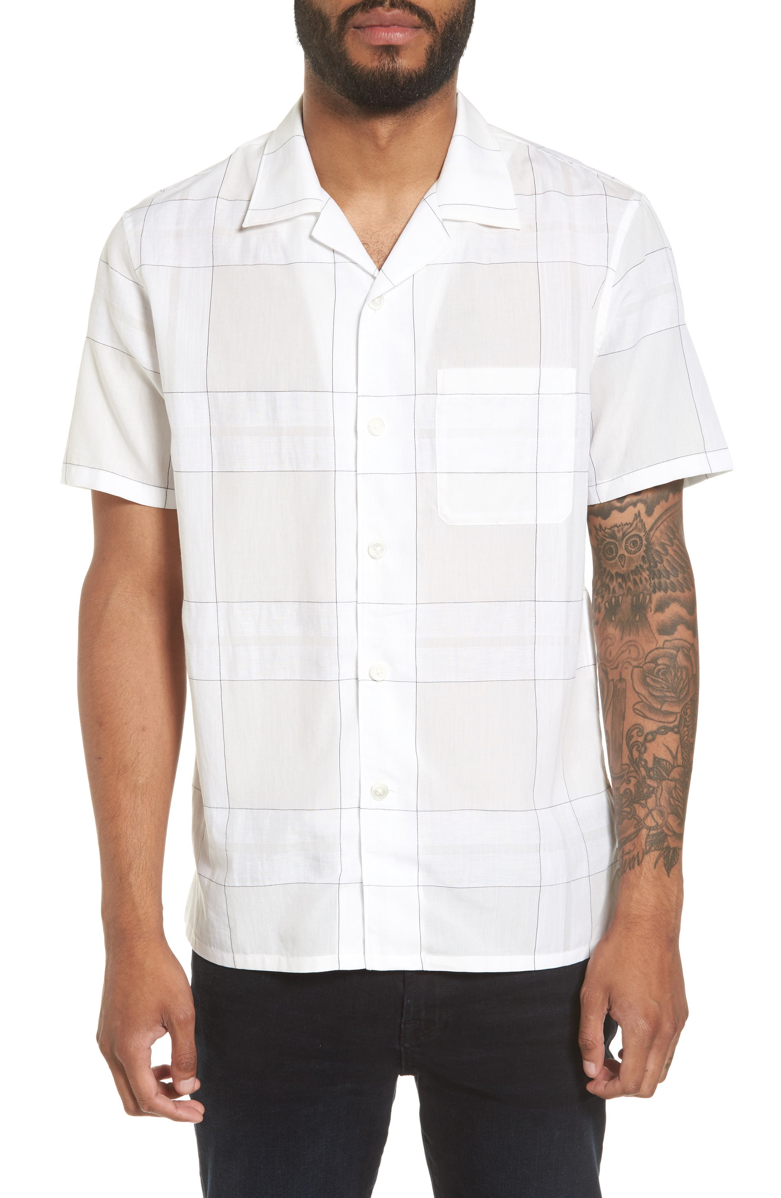 Theory Havana Pincheck Slim Fit Sport Shirt
