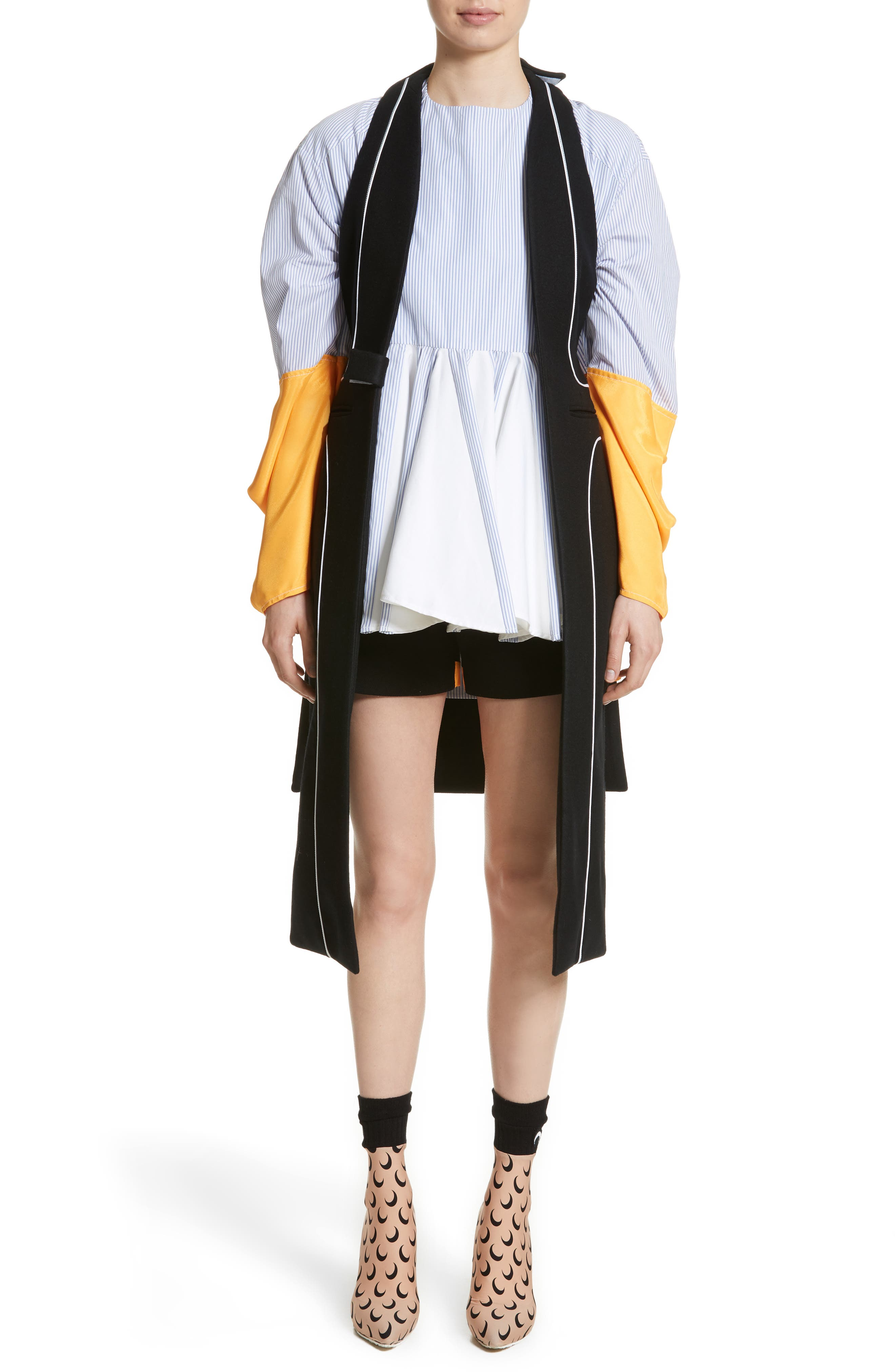 Wool Vest,                             Alternate thumbnail 8, color,                             Black