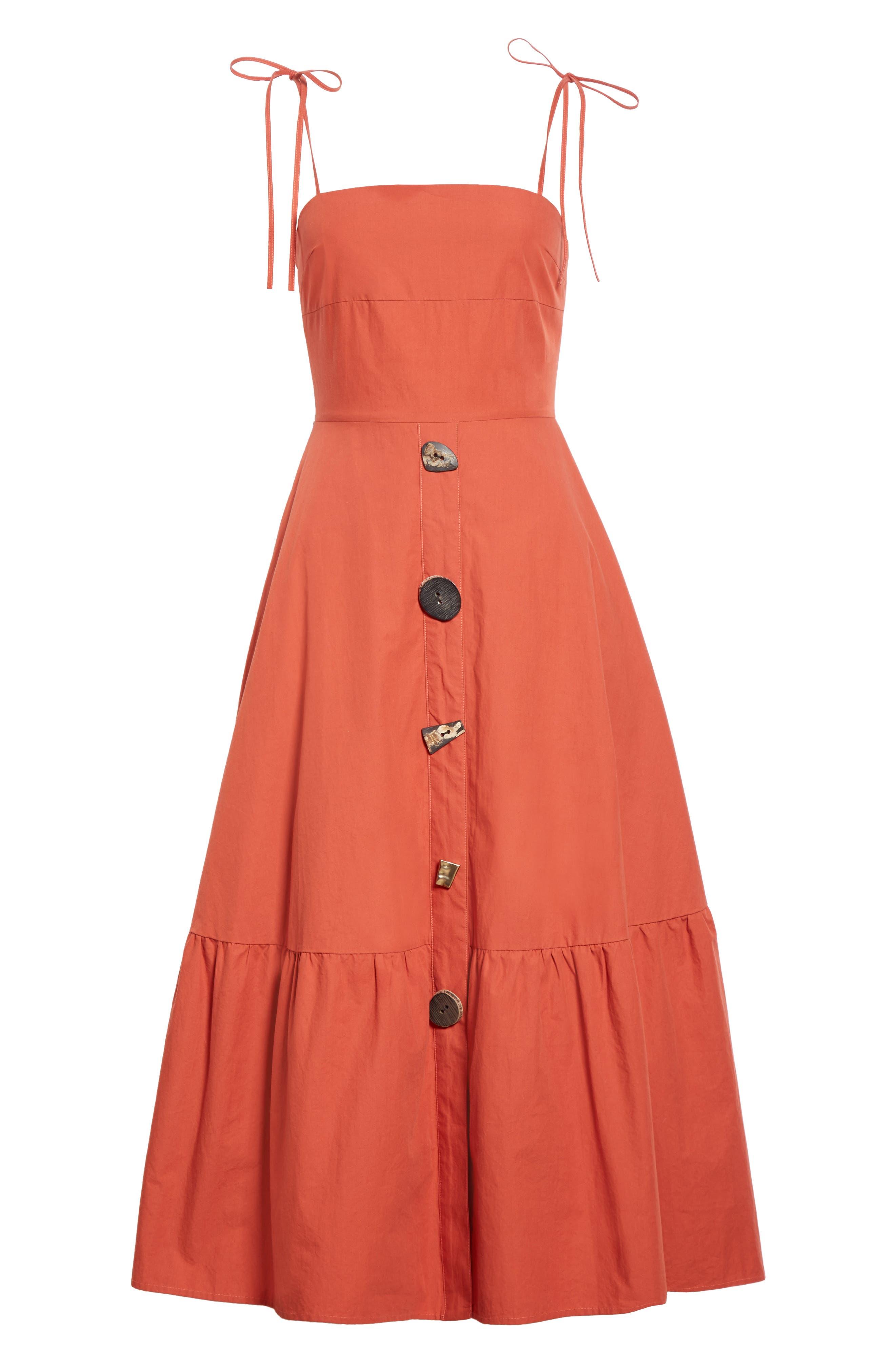 Alternate Image 6  - Rejina Pyo Maria Ruffle Hem Poplin Midi Dress