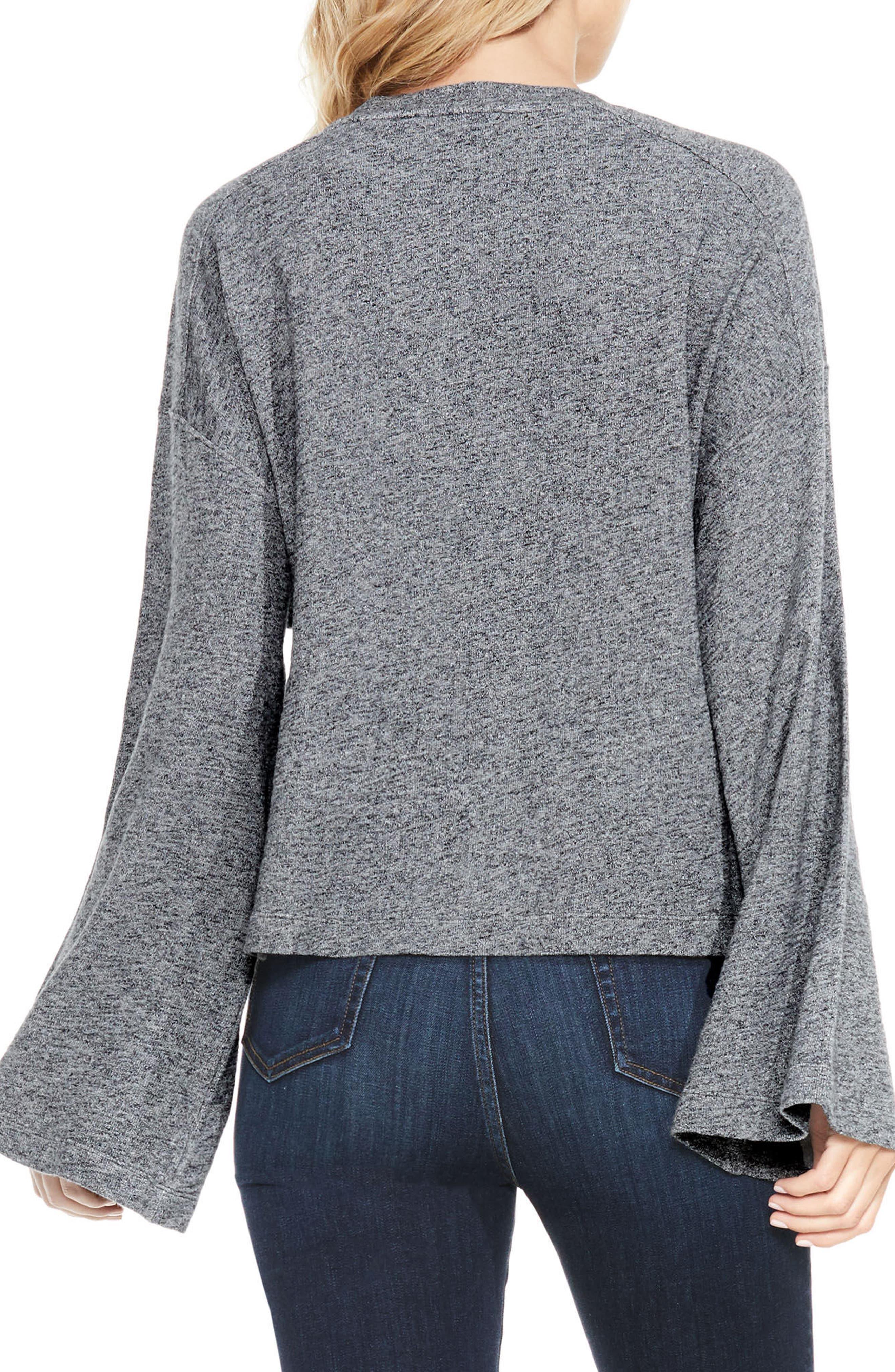 Alternate Image 2  - Two by Vince Camuto Marled Bell Sleeve Top