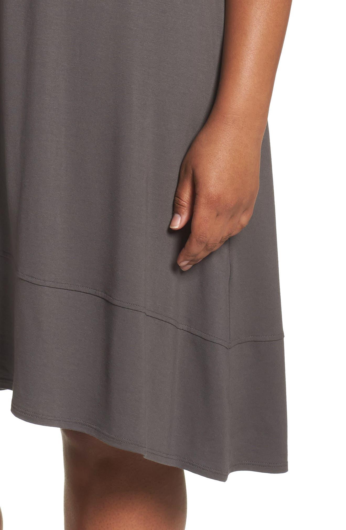 Alternate Image 4  - Eileen Fisher Jersey Shift Dress (Plus Size)
