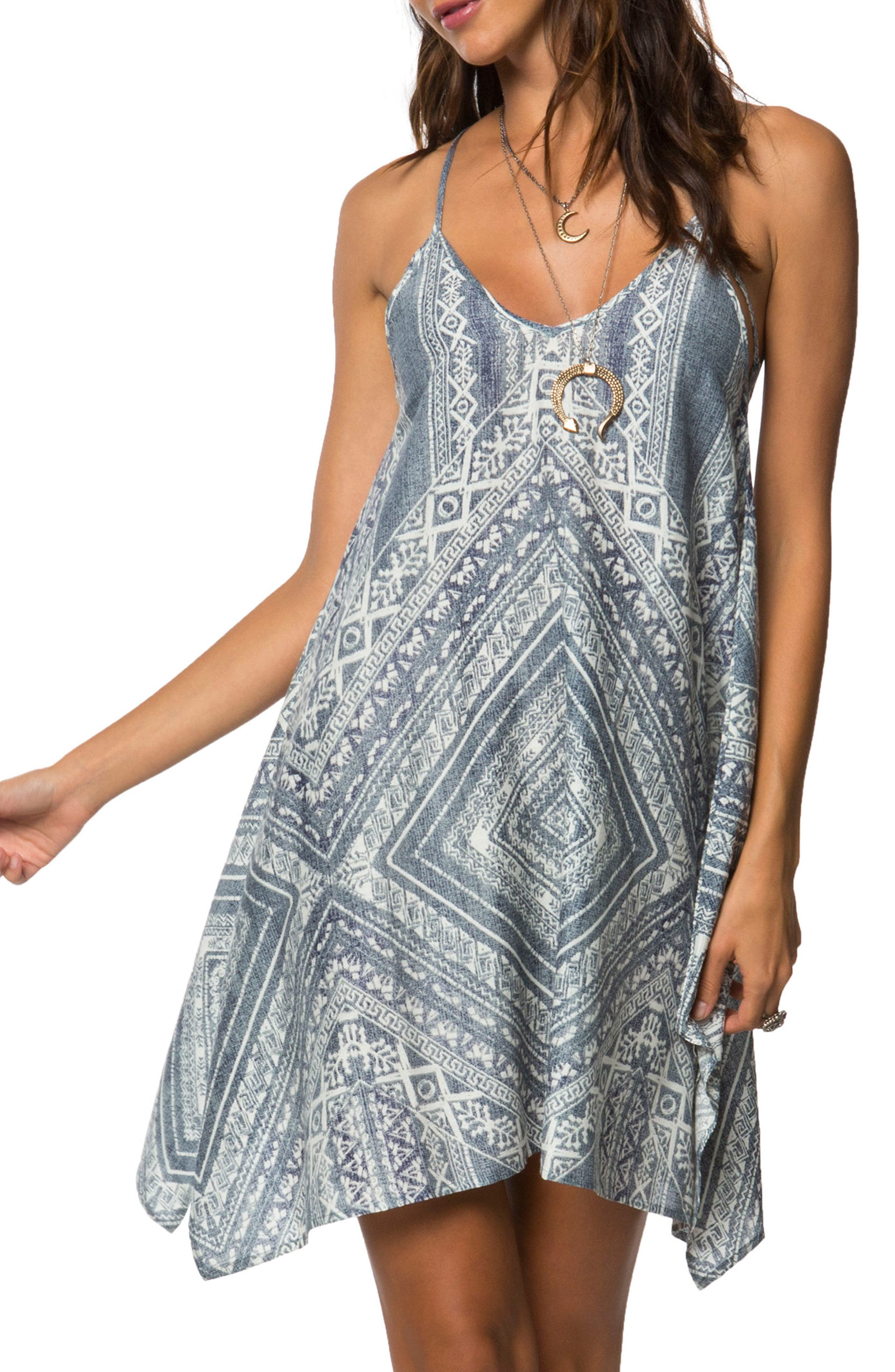 Judd Print Swing Dress,                         Main,                         color, Blue Multi