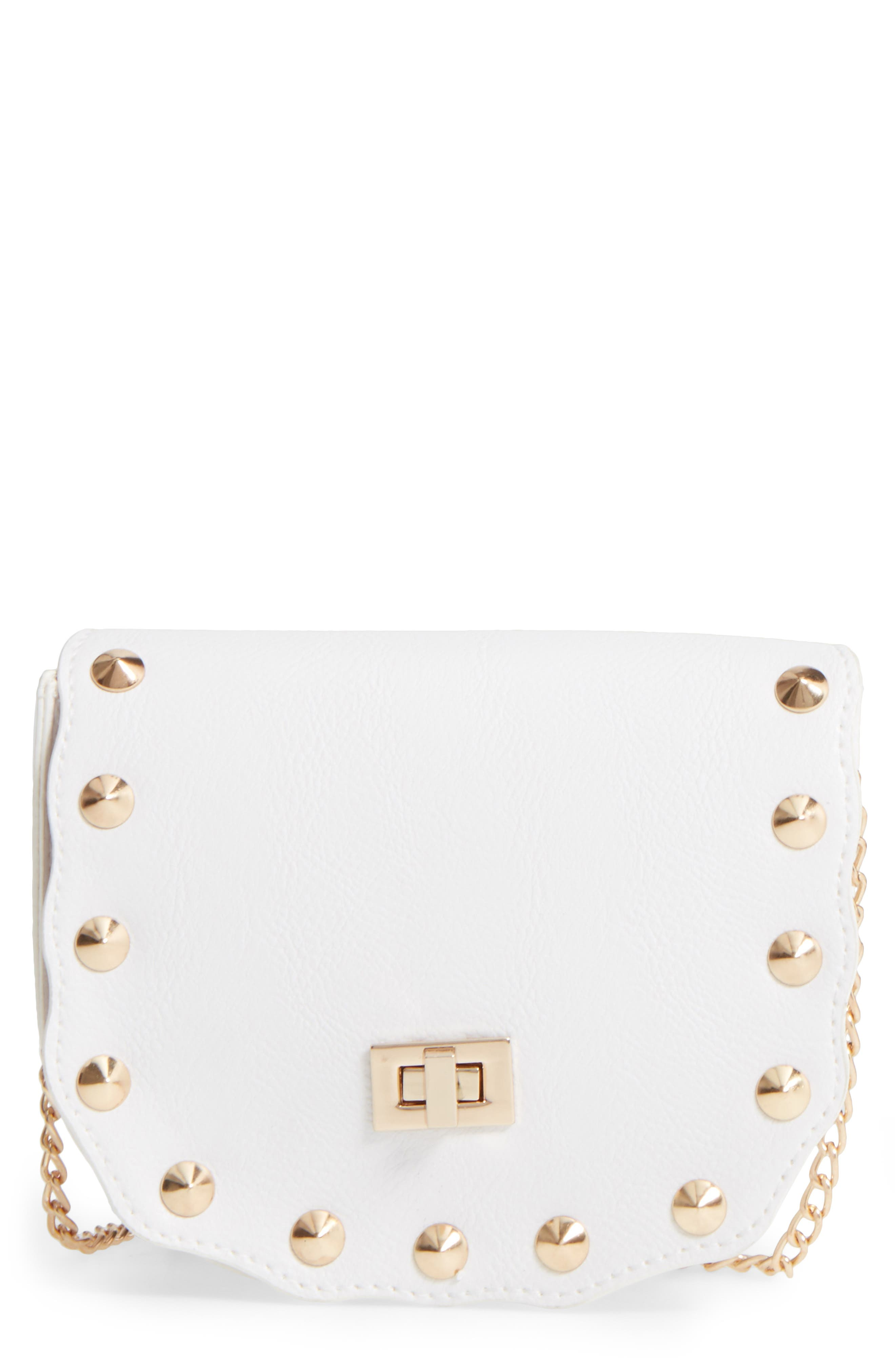 CAPELLI OF NEW YORK Faux Leather Shoulder Bag