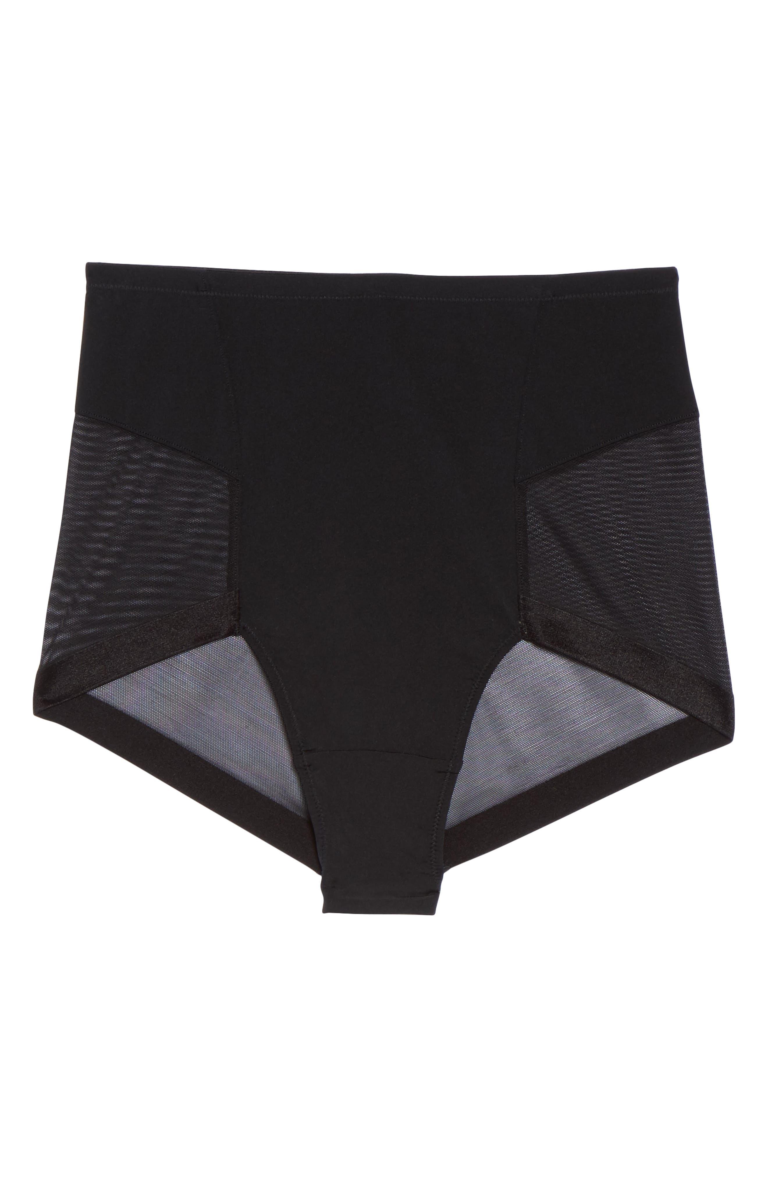 Infinite High Waist Shaper Panties,                             Alternate thumbnail 4, color,                             Black