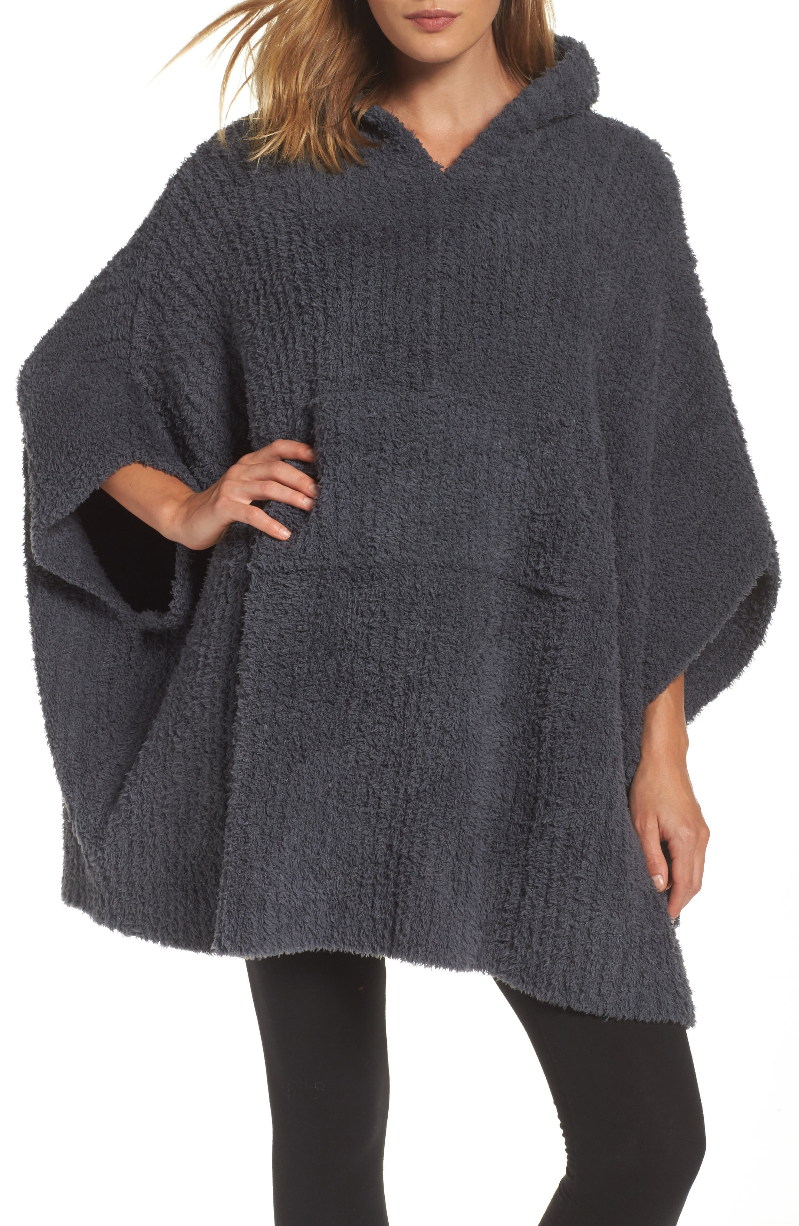 Barefoot Dreams® CozyChic® Ribbed Hooded Poncho