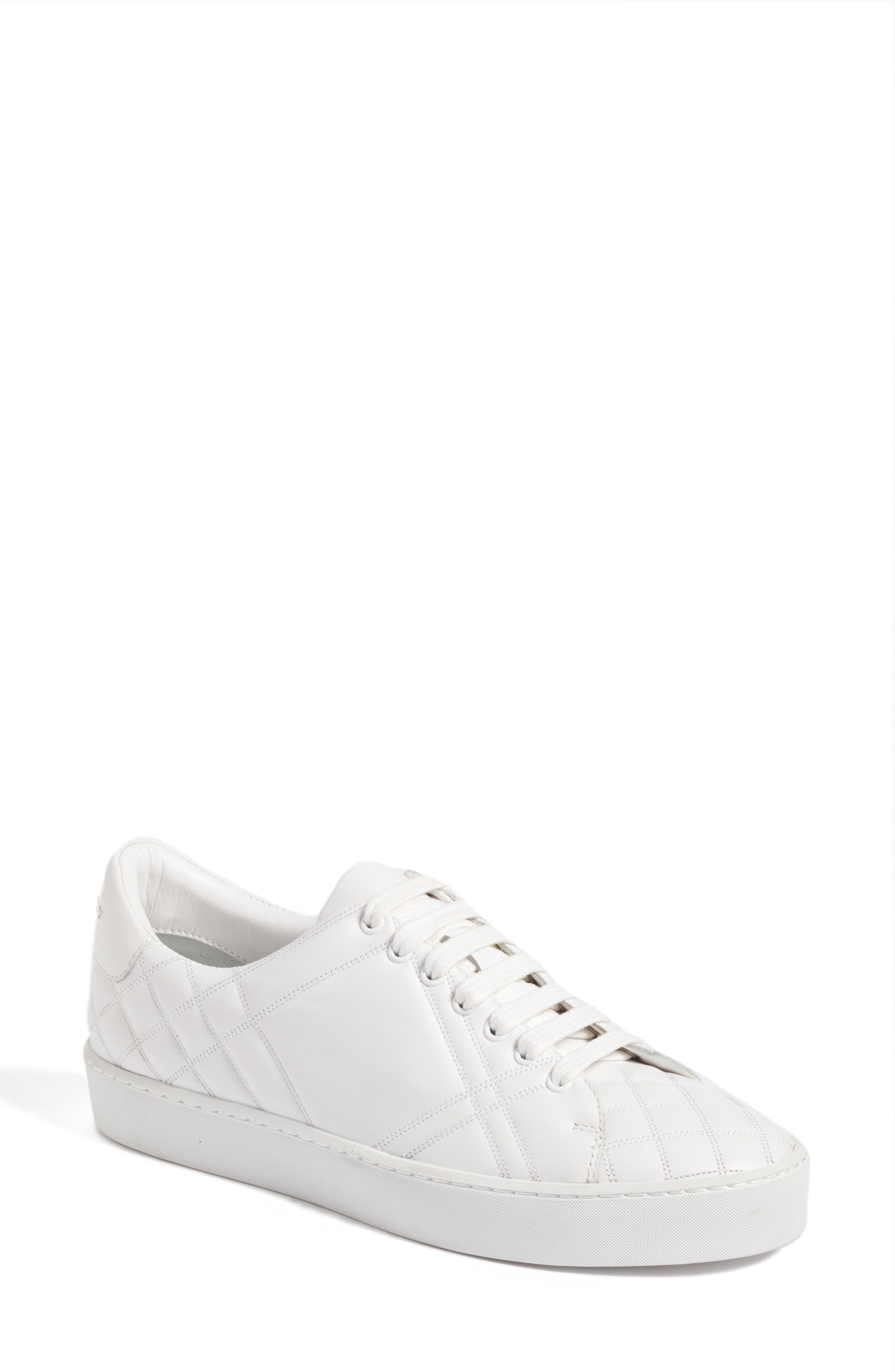 Burberry Check Quilted Leather Sneaker (Women)