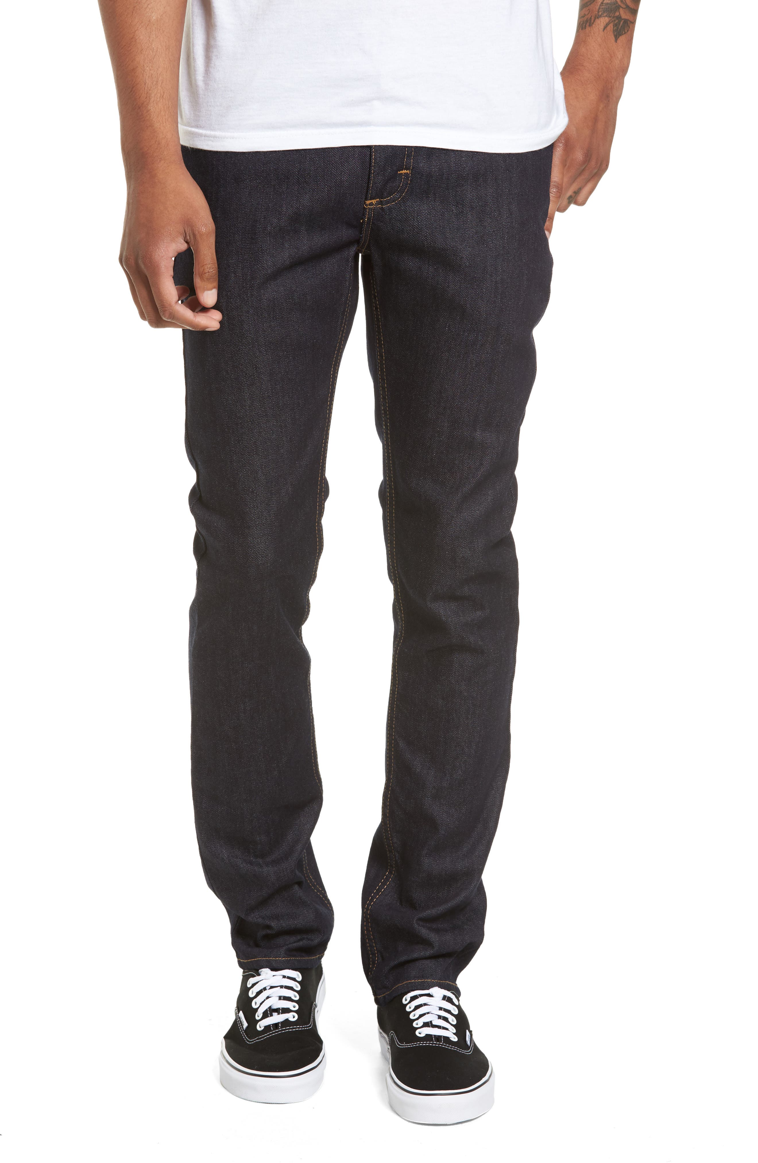 V76 Skinny Jeans,                             Main thumbnail 1, color,                             Indigo