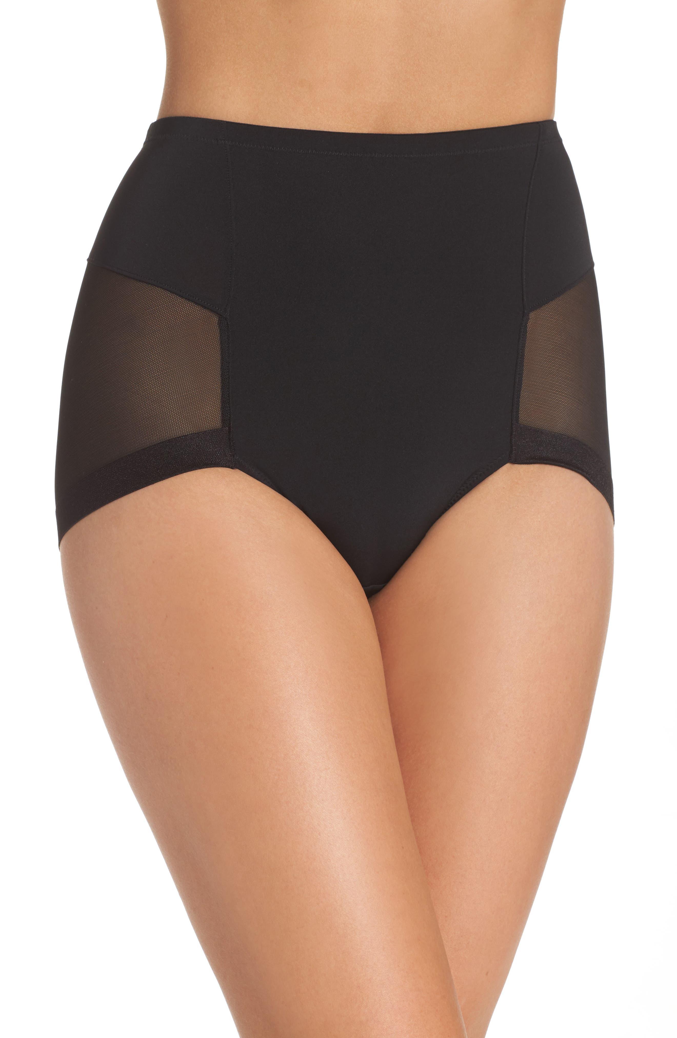 Infinite High Waist Shaper Panties,                         Main,                         color, Black