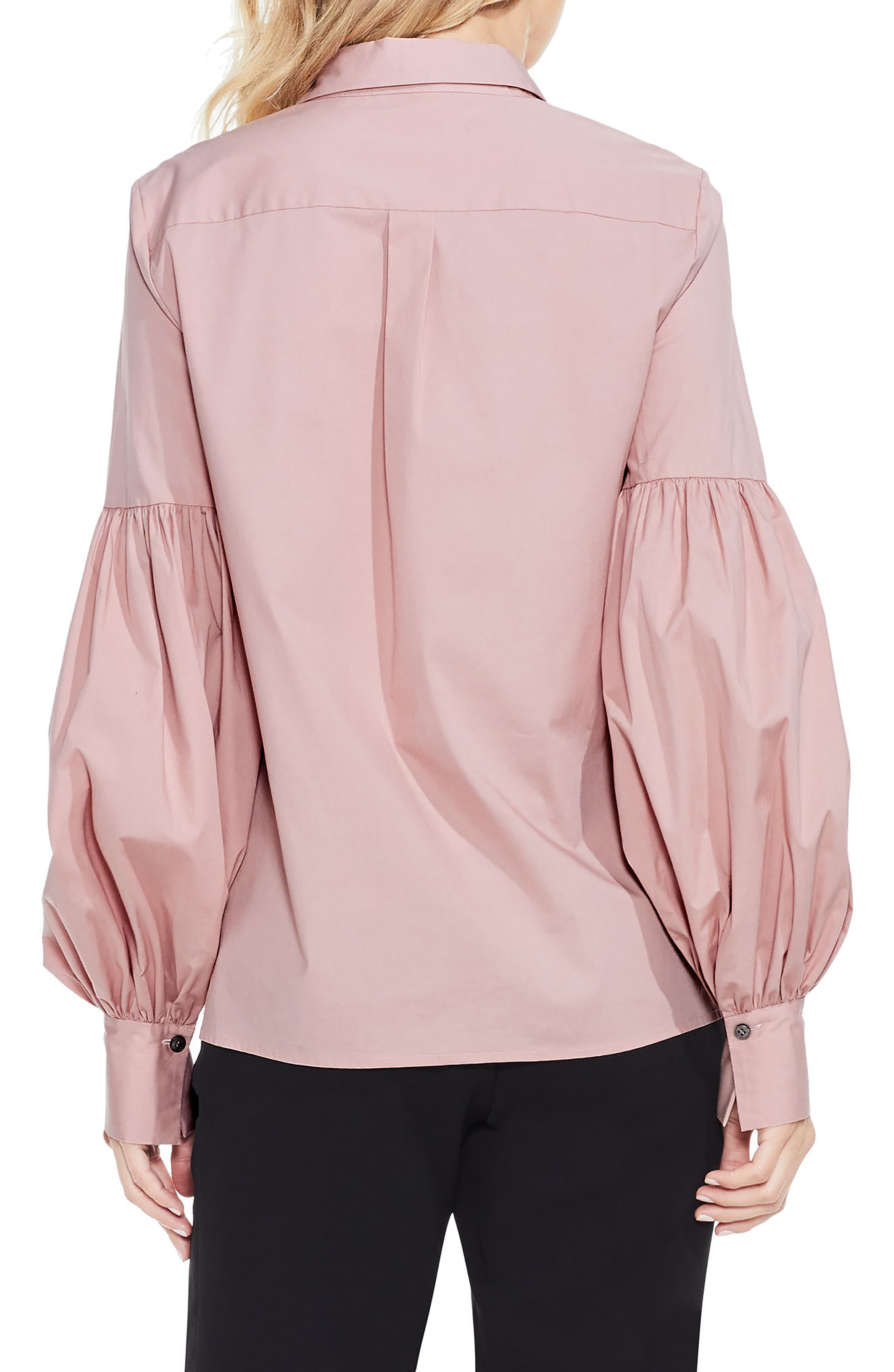 Puff Sleeve Shirt,                             Alternate thumbnail 2, color,                             Iced Rose