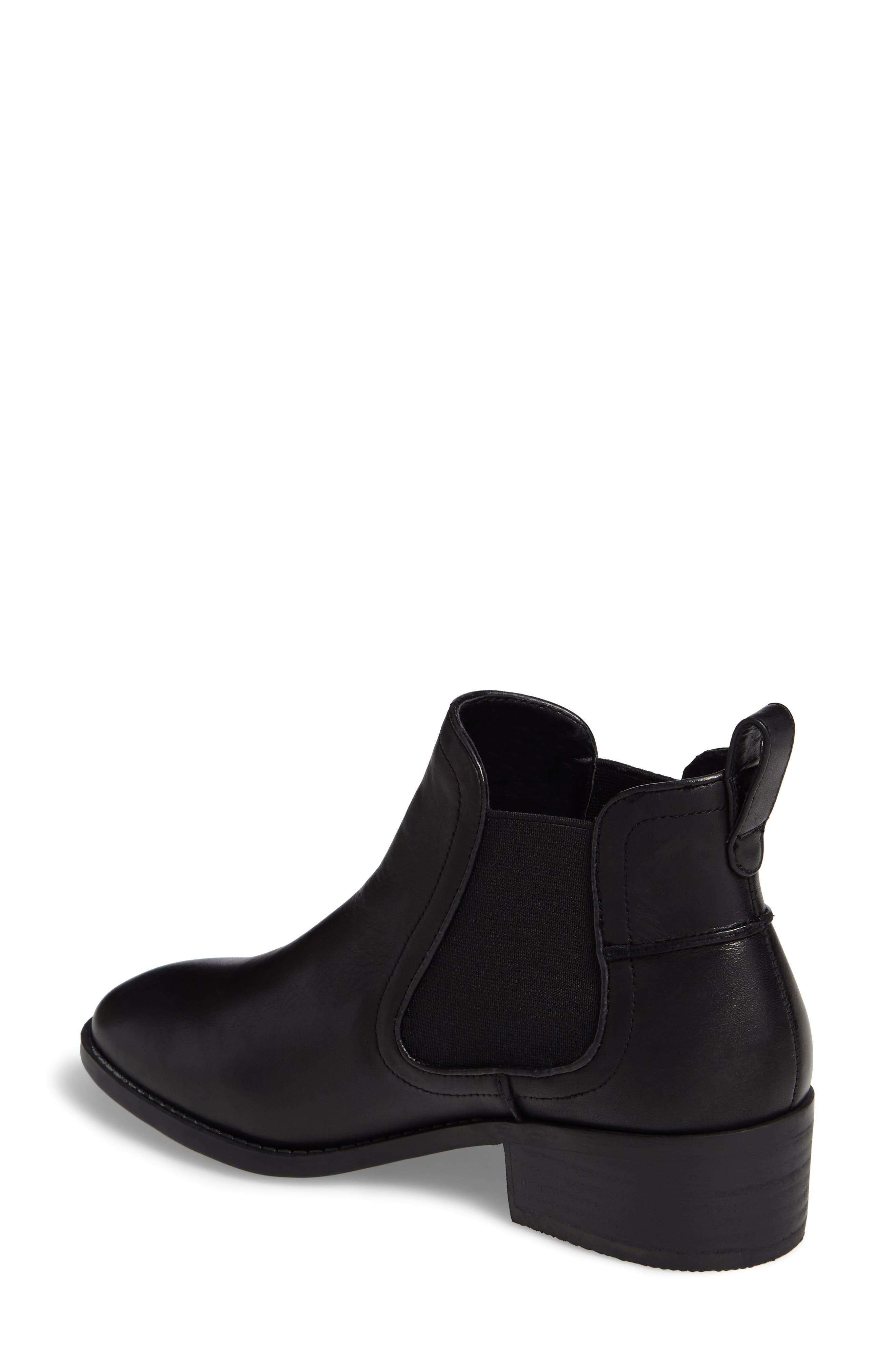 Dicey Chelsea Boot,                             Alternate thumbnail 2, color,                             Black Leather