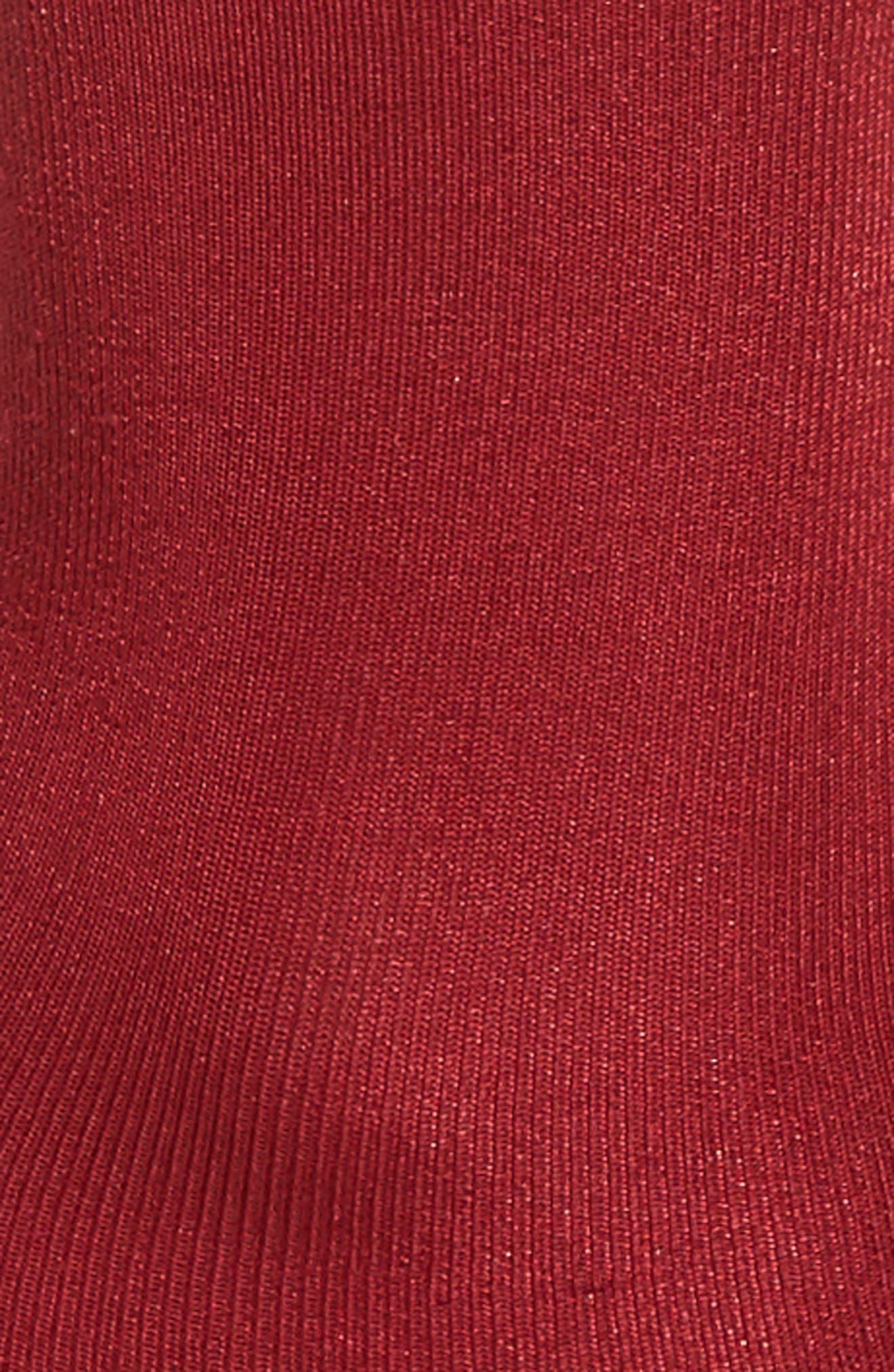 Ruffled Luster Socks,                             Alternate thumbnail 2, color,                             Sangria