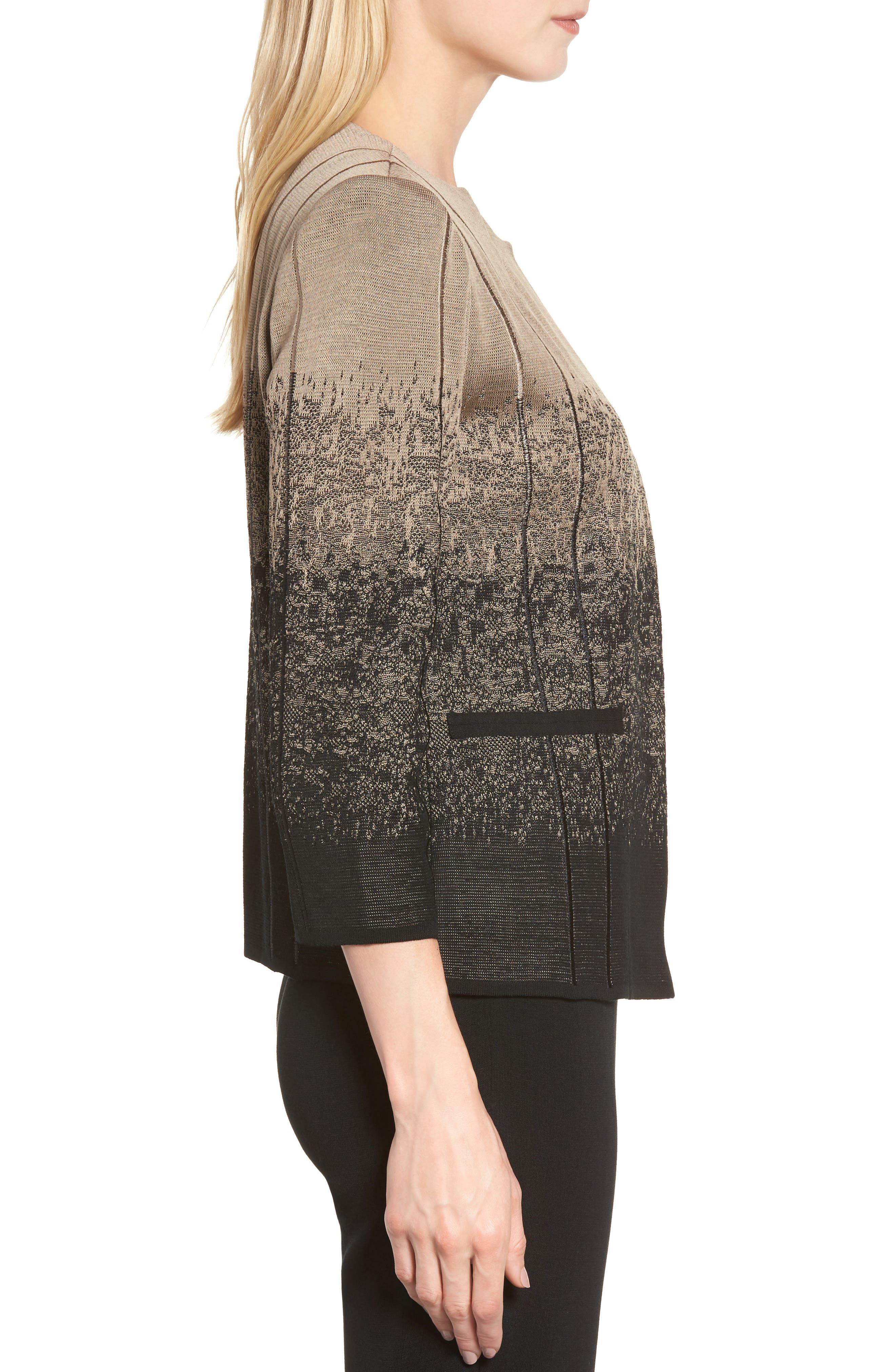 Alternate Image 3  - Ming Wang Jacquard Knit Jacket
