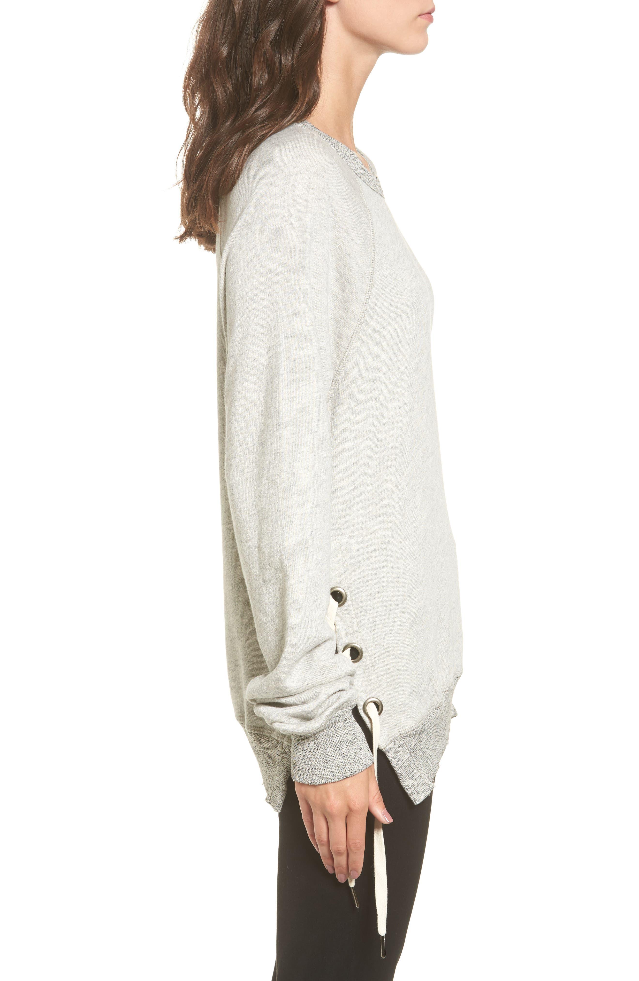 Alternate Image 3  - n:PHILANTHROPY Felix Lace-Up Sweatshirt