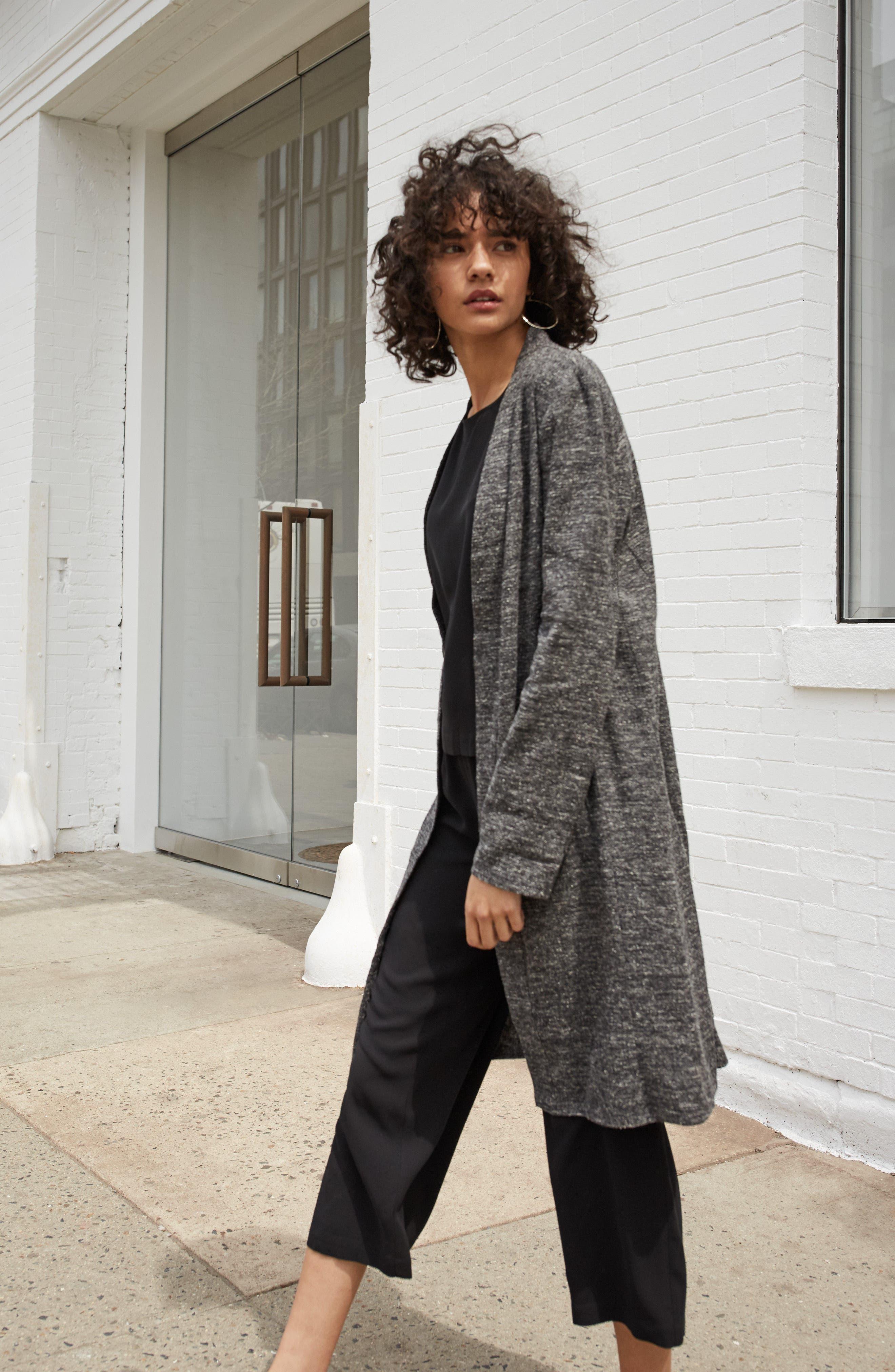 Alternate Image 2  - Eileen Fisher Silk & Organic Linen Duster