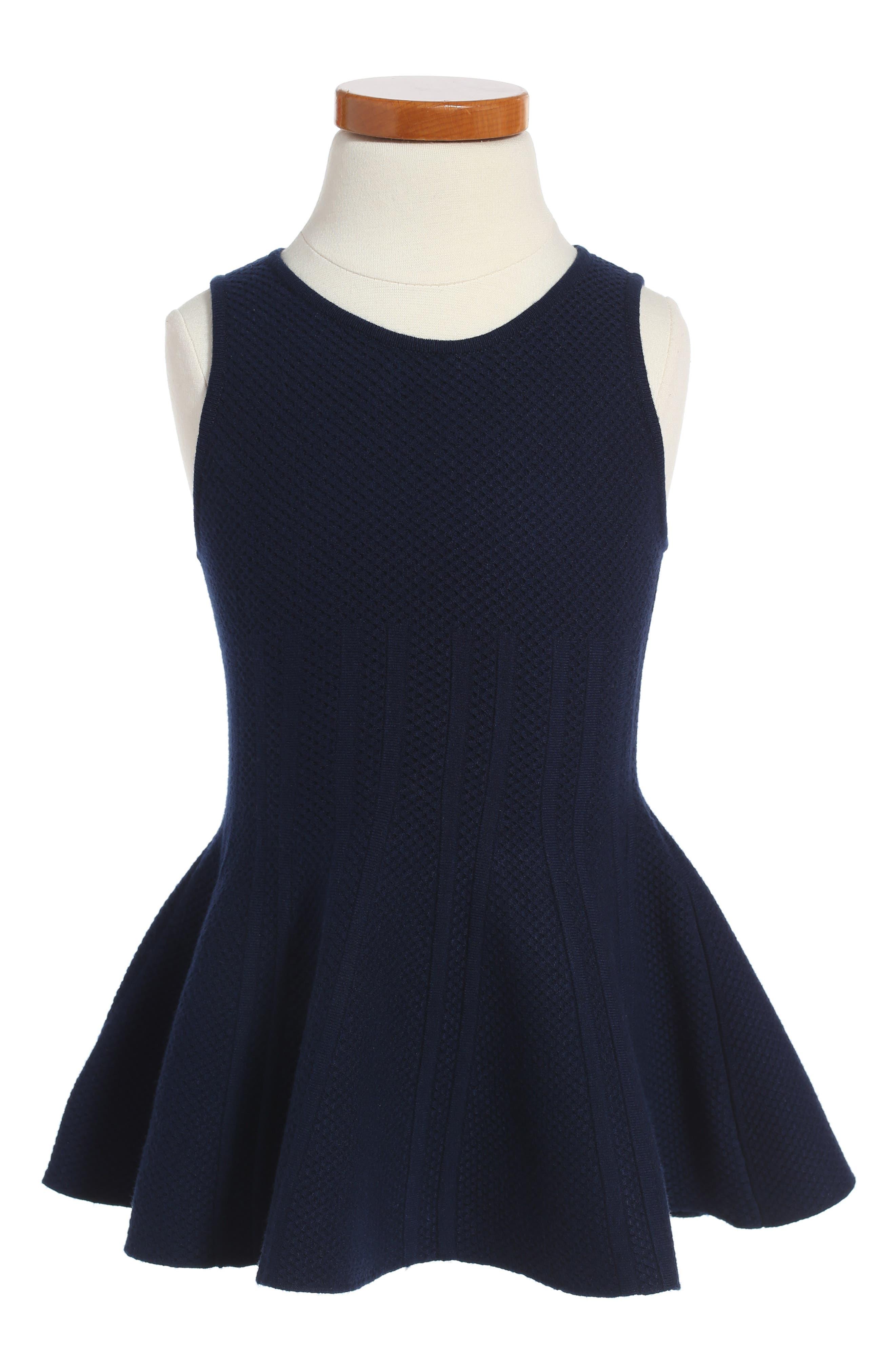 Milly Minis Peplum Hem Dress (Toddler Girls, Little Girls & Big Girls)