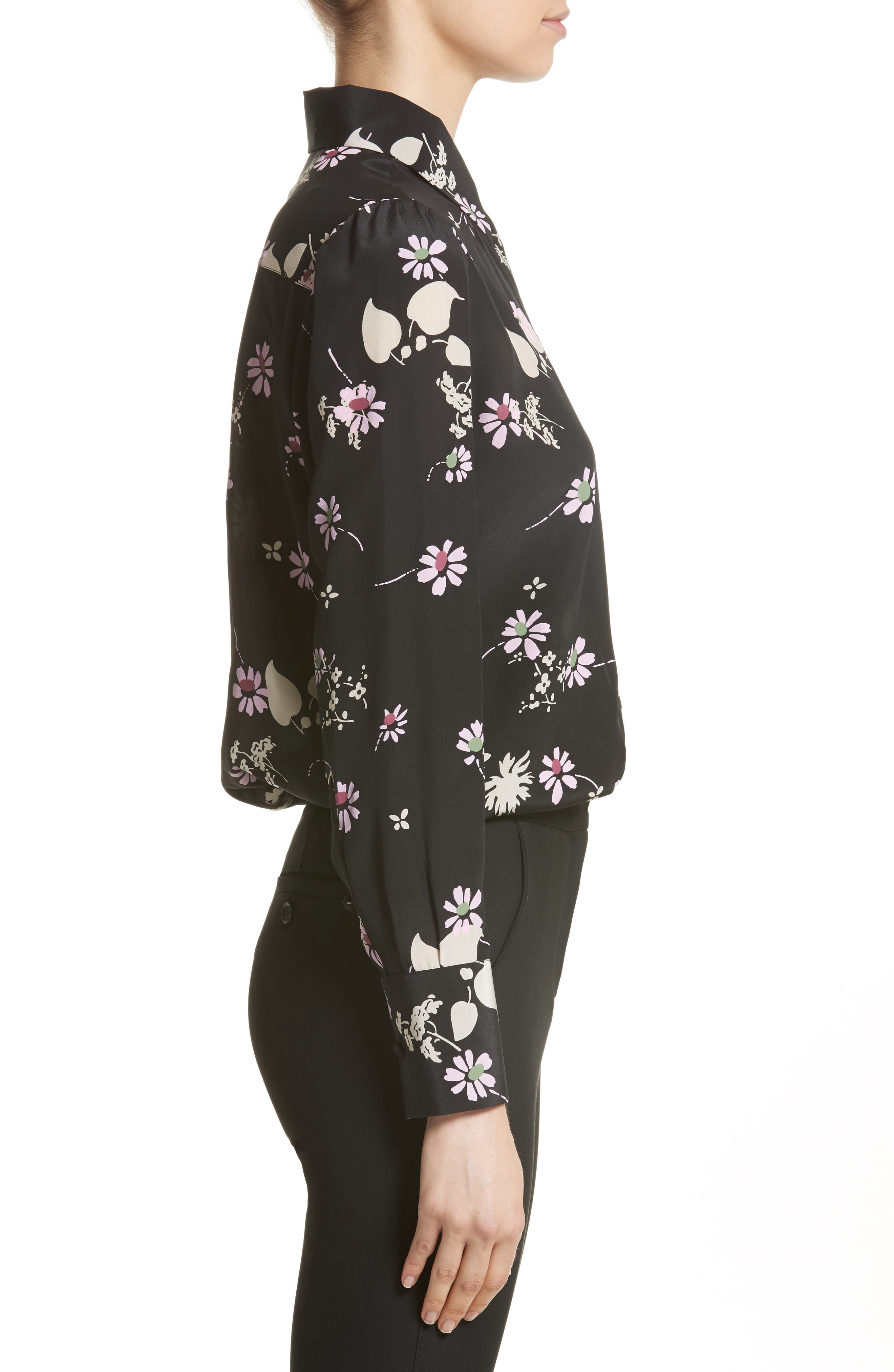Alternate Image 4  - Valentino Flowers Fall Silk Shirt