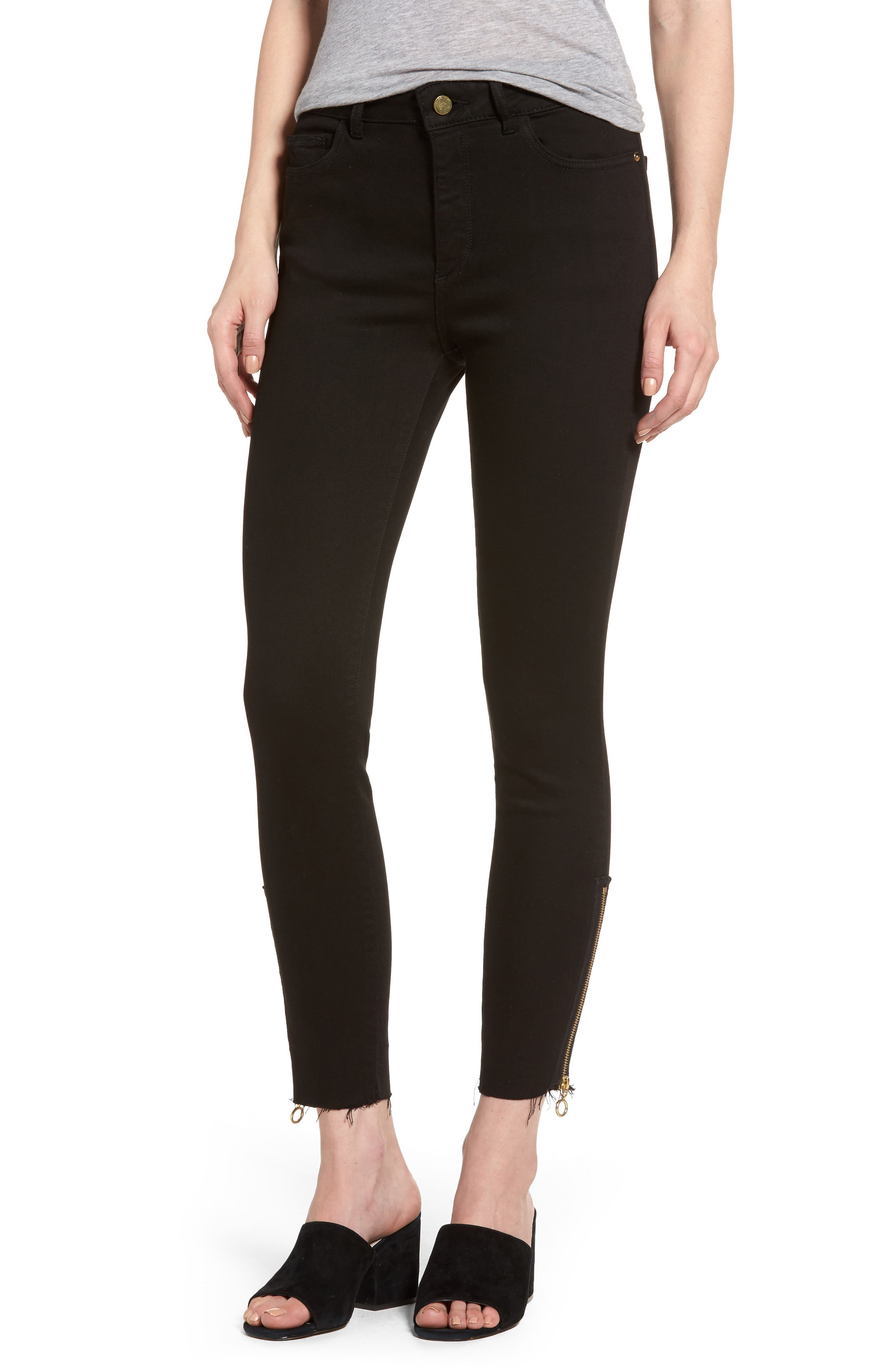 Farrow Instaslim High Waist Ankle Skinny Jeans,                         Main,                         color, Medway