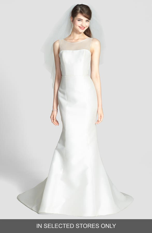 Amsale preston silk magnolia sheath wedding dress nordstrom main image amsale preston silk magnolia sheath wedding dress junglespirit Image collections