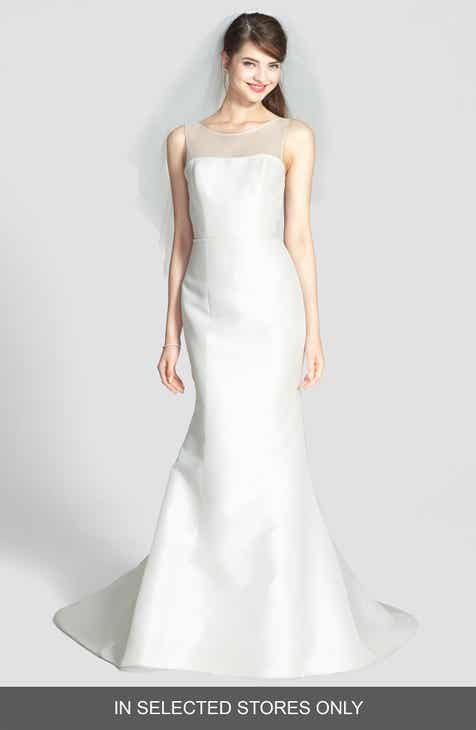 Am Preston Silk Magnolia Sheath Wedding Dress