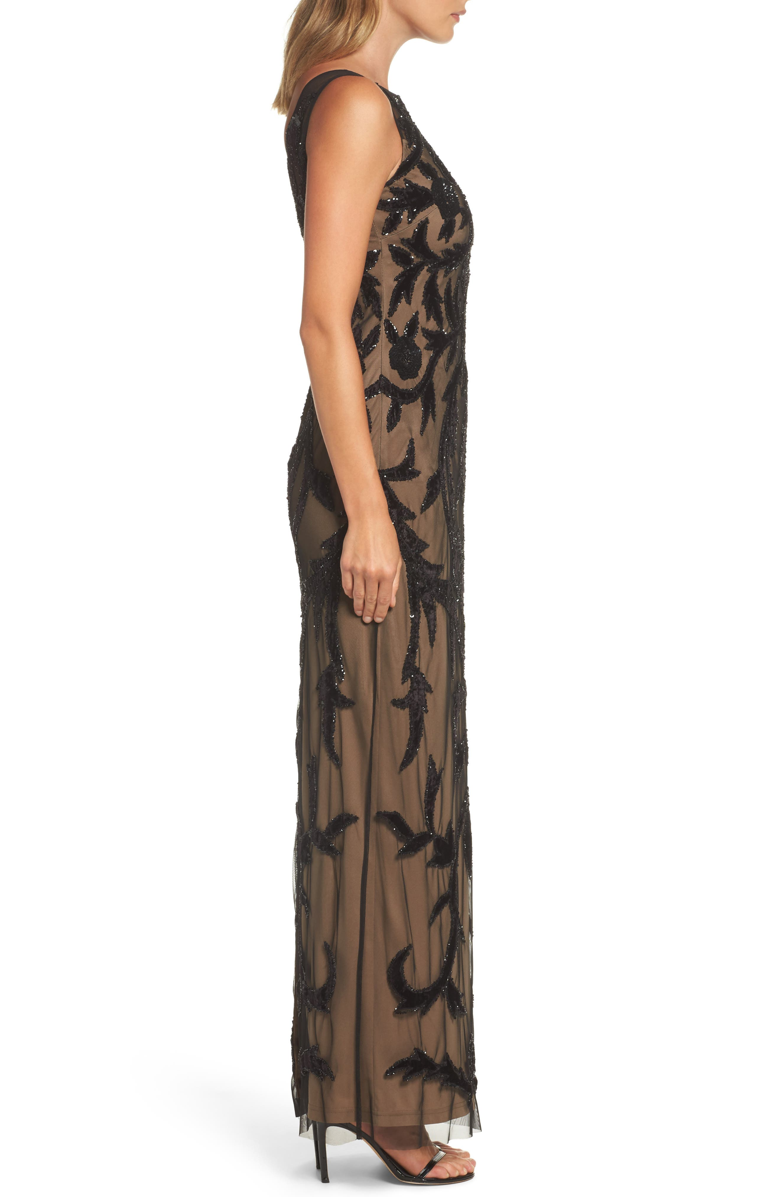 Alternate Image 3  - Adrianna Papell Beaded Mesh Gown