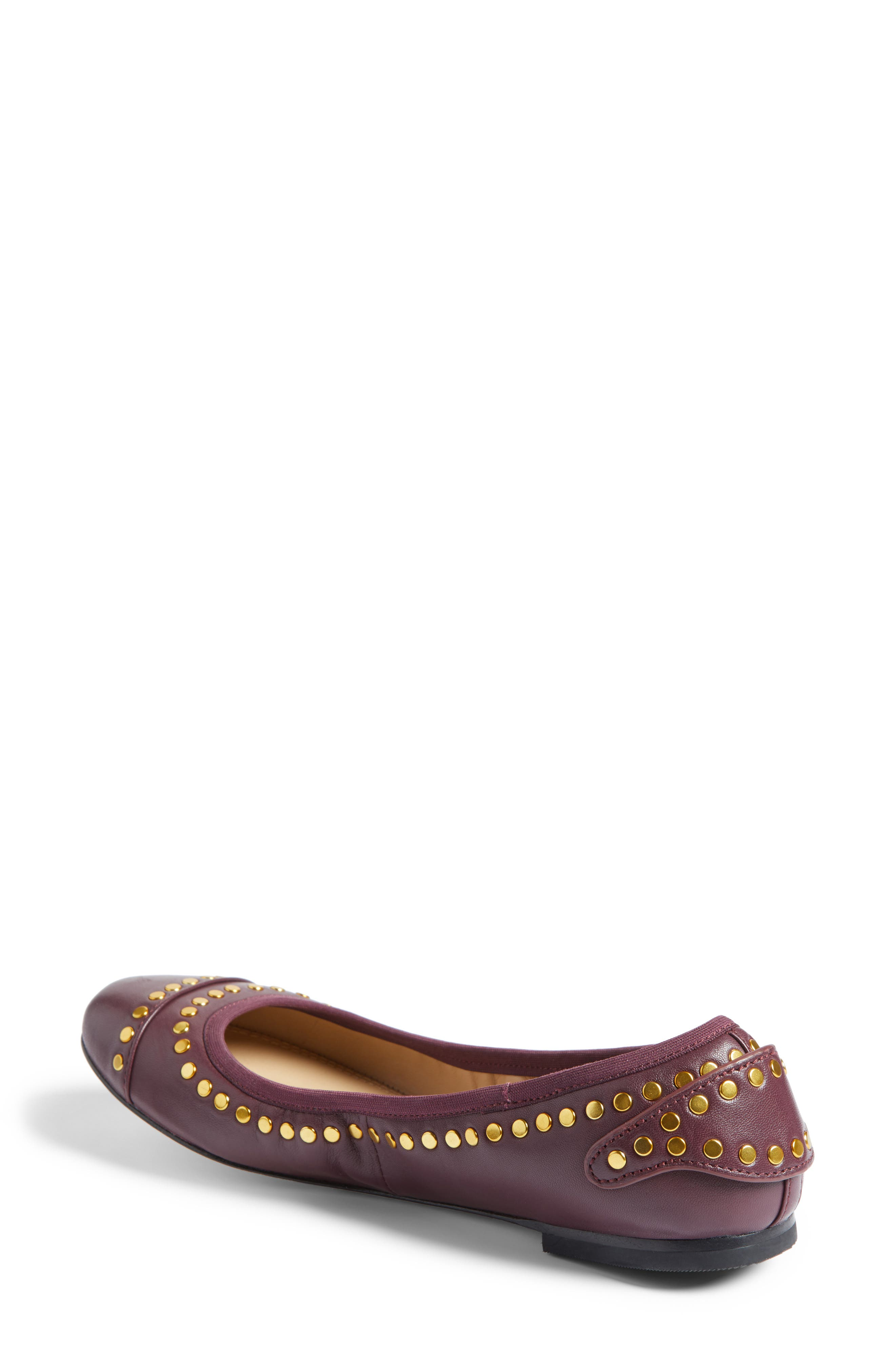 Alternate Image 2  - Tory Burch Holden Studded Cap Toe Flat (Women)