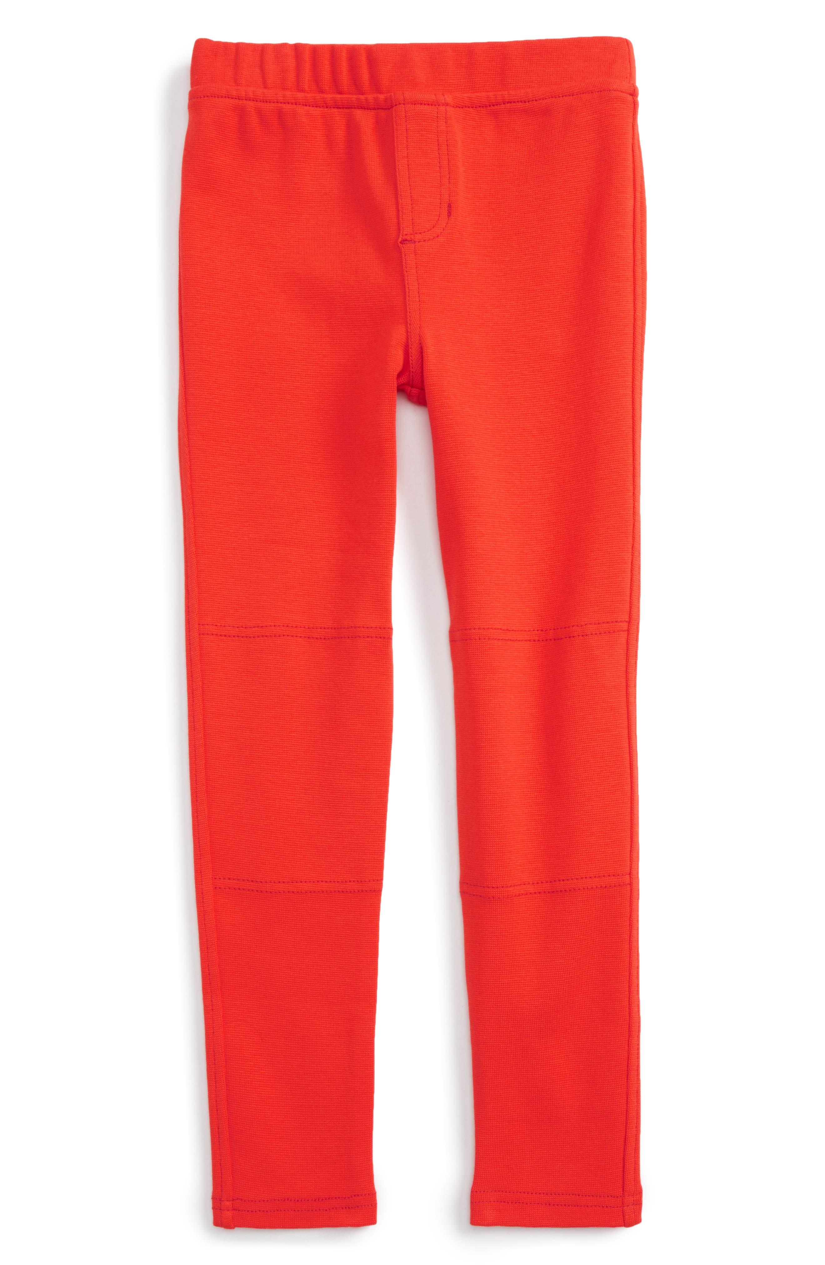 Ribbed Moto Pants,                         Main,                         color, Vermillion