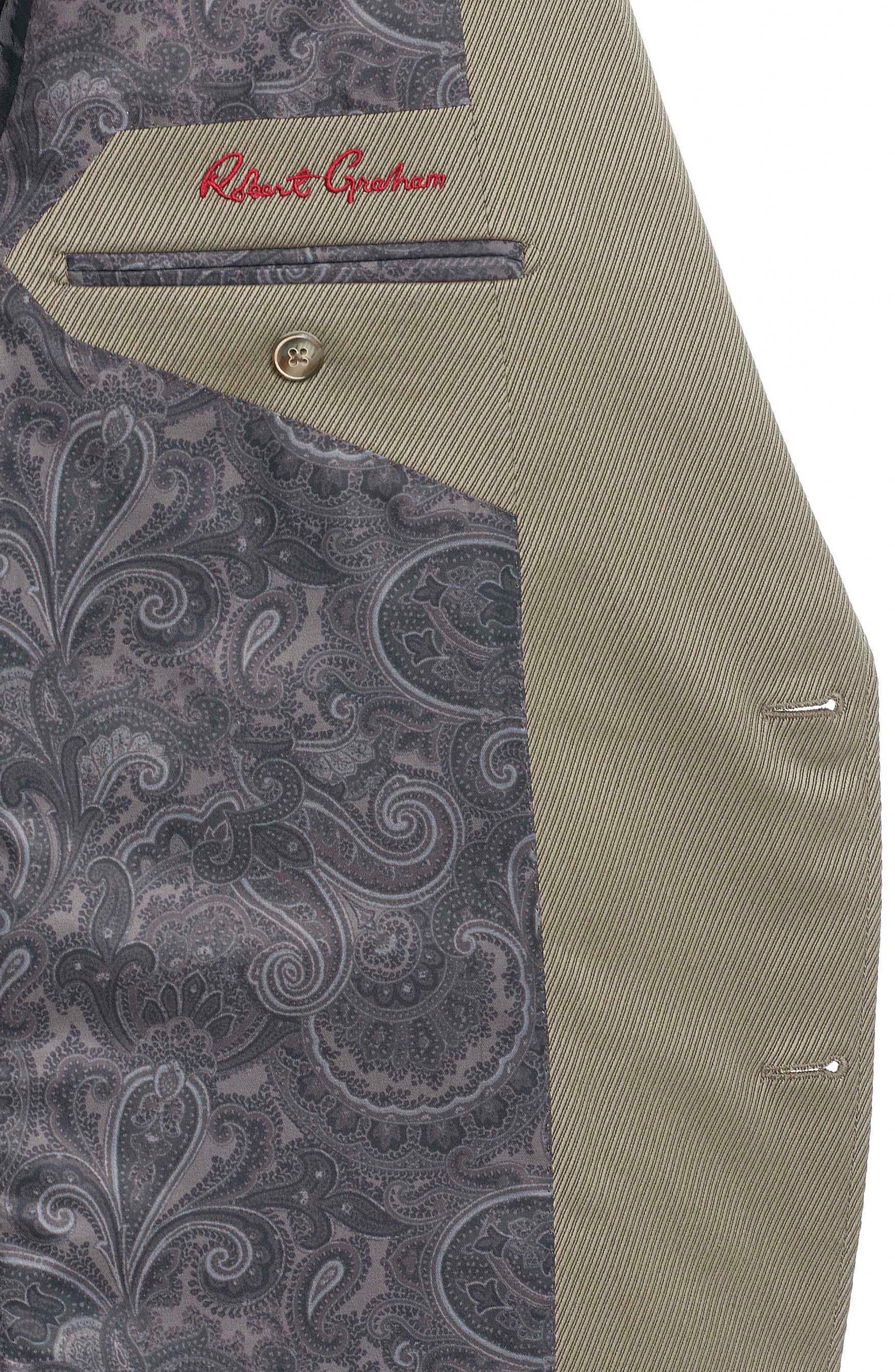 Castille Classic Fit Wool Blend Sport Coat,                             Alternate thumbnail 4, color,                             Taupe