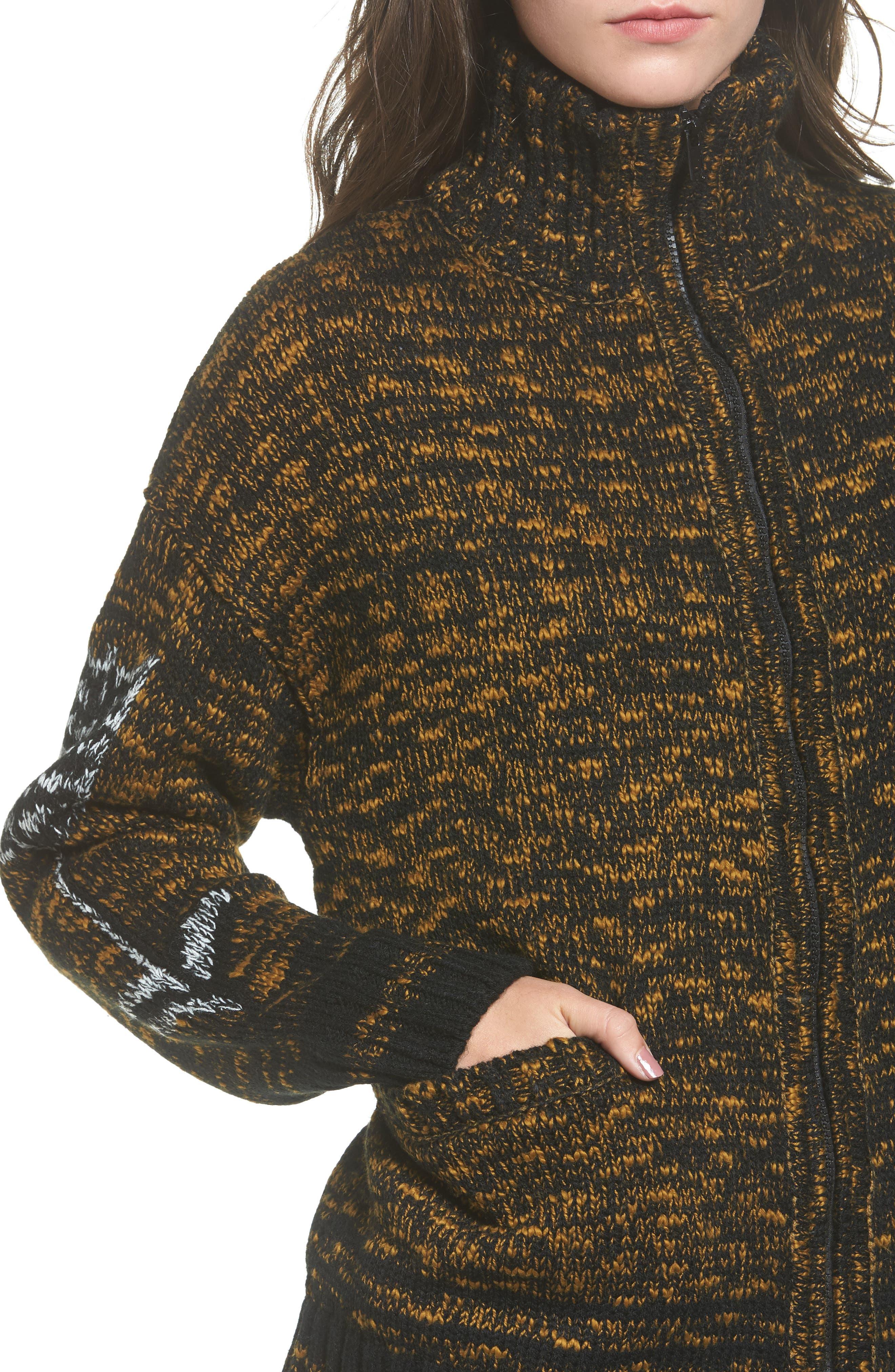 Tunnel Vision Zip Jacket,                             Alternate thumbnail 4, color,                             Olive Multi