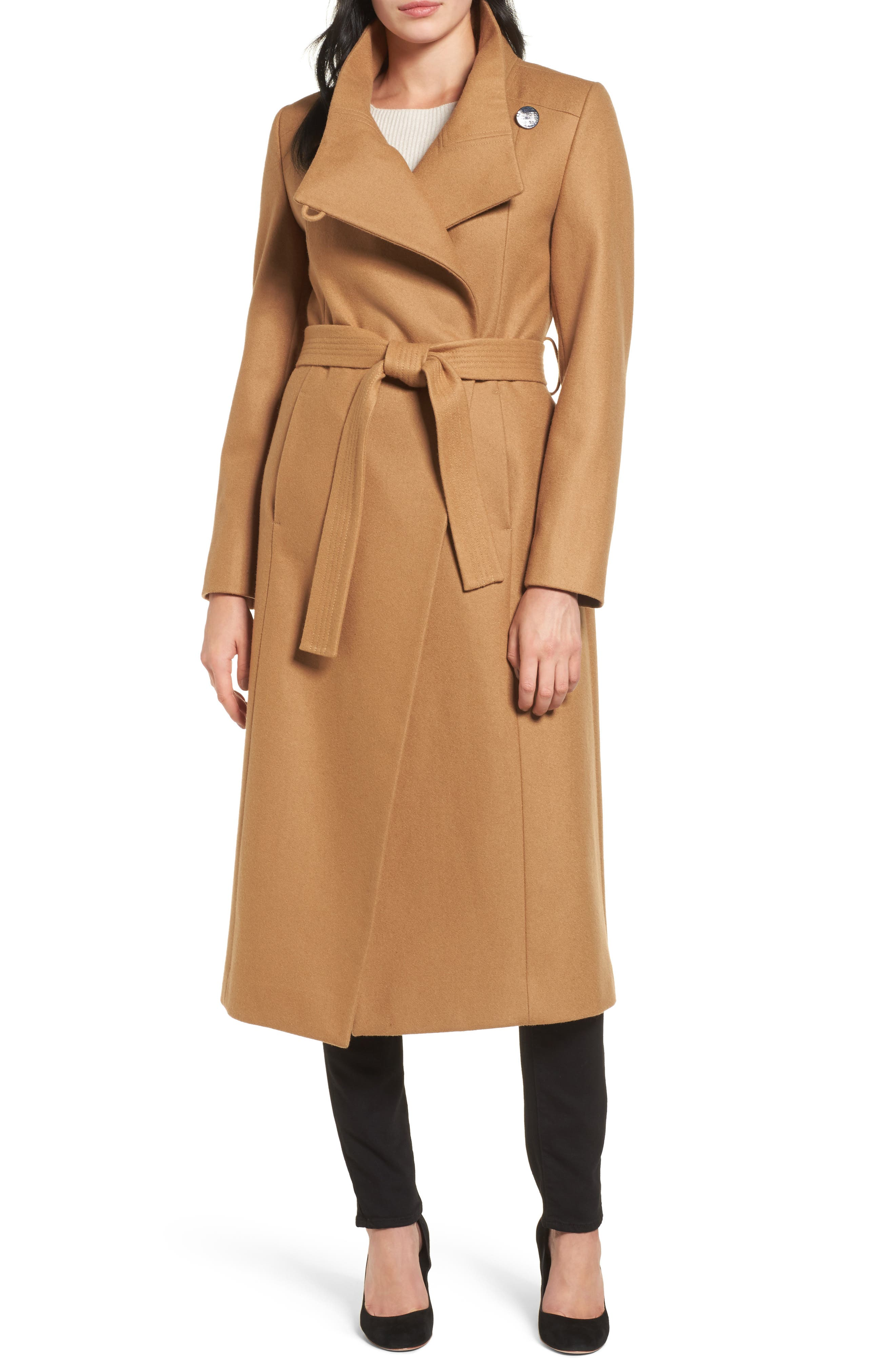 Alternate Image 1 Selected - Kenneth Cole New York Wool Blend Maxi Wrap Coat
