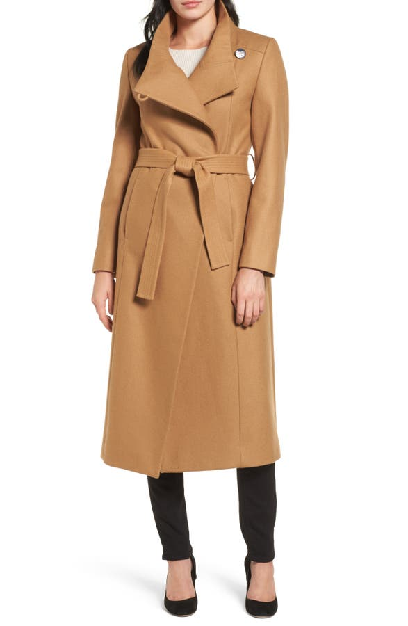 Kenneth Cole New York Wool Blend Maxi Wrap Coat | Nordstrom