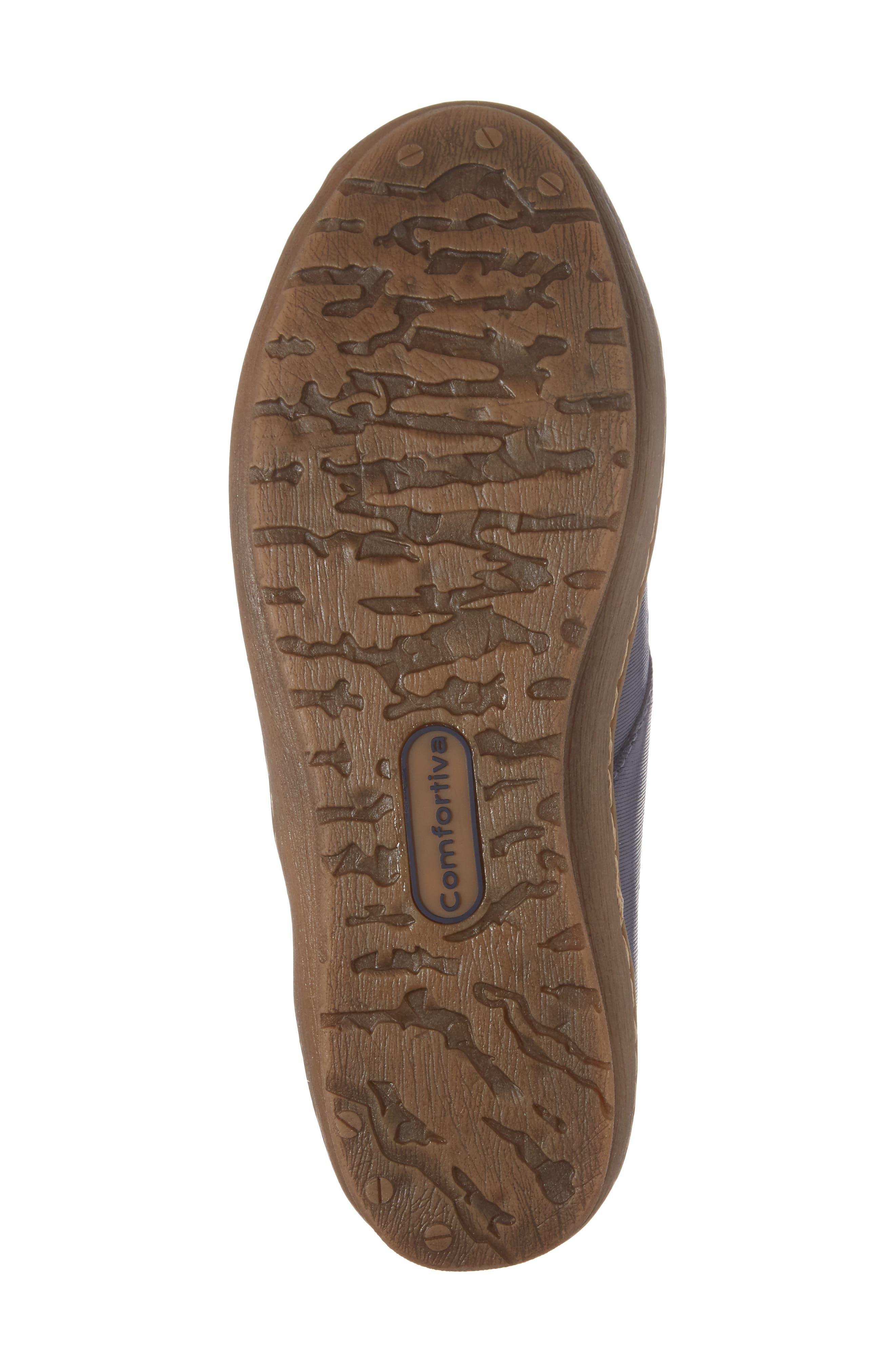 Cassandra Siped Sneaker,                             Alternate thumbnail 5, color,                             Denim Blue Leather