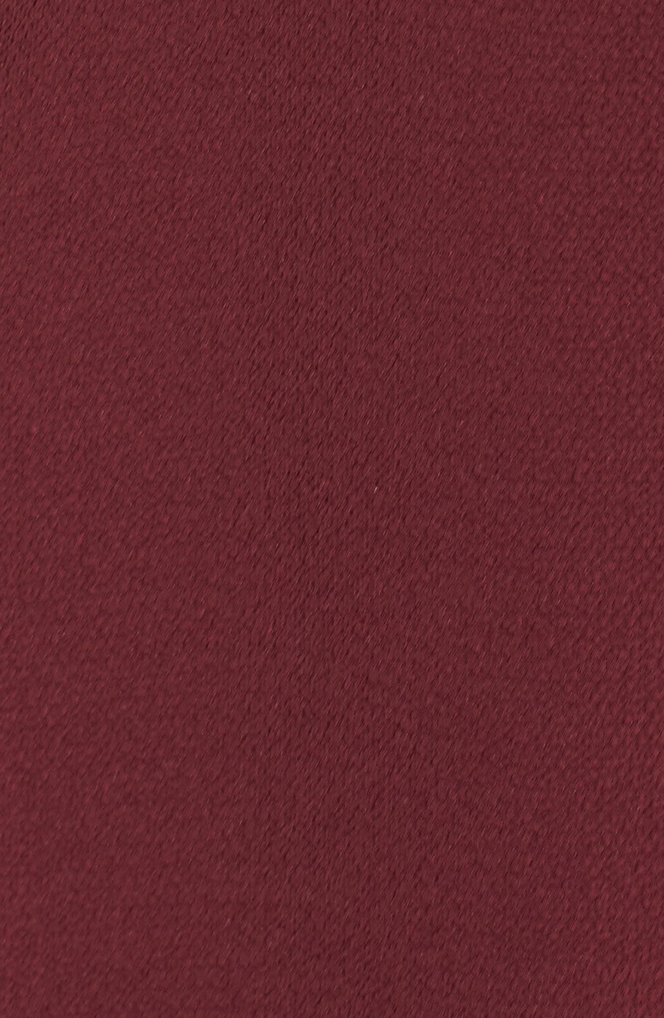 Crepe Bow Fit & Flare Dress,                             Alternate thumbnail 5, color,                             Wine