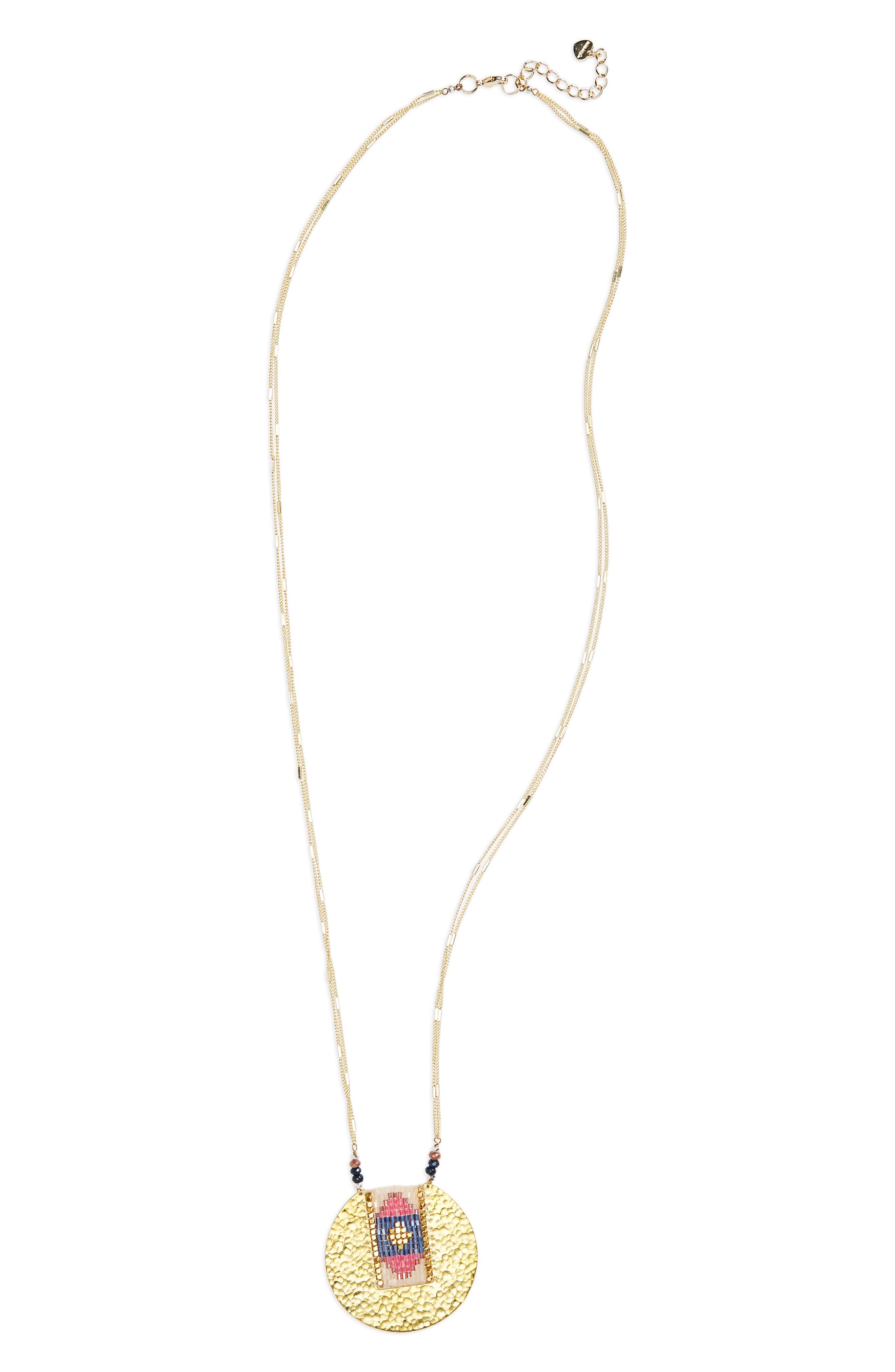 Nakamol Design Seed Bead Pendant Necklace