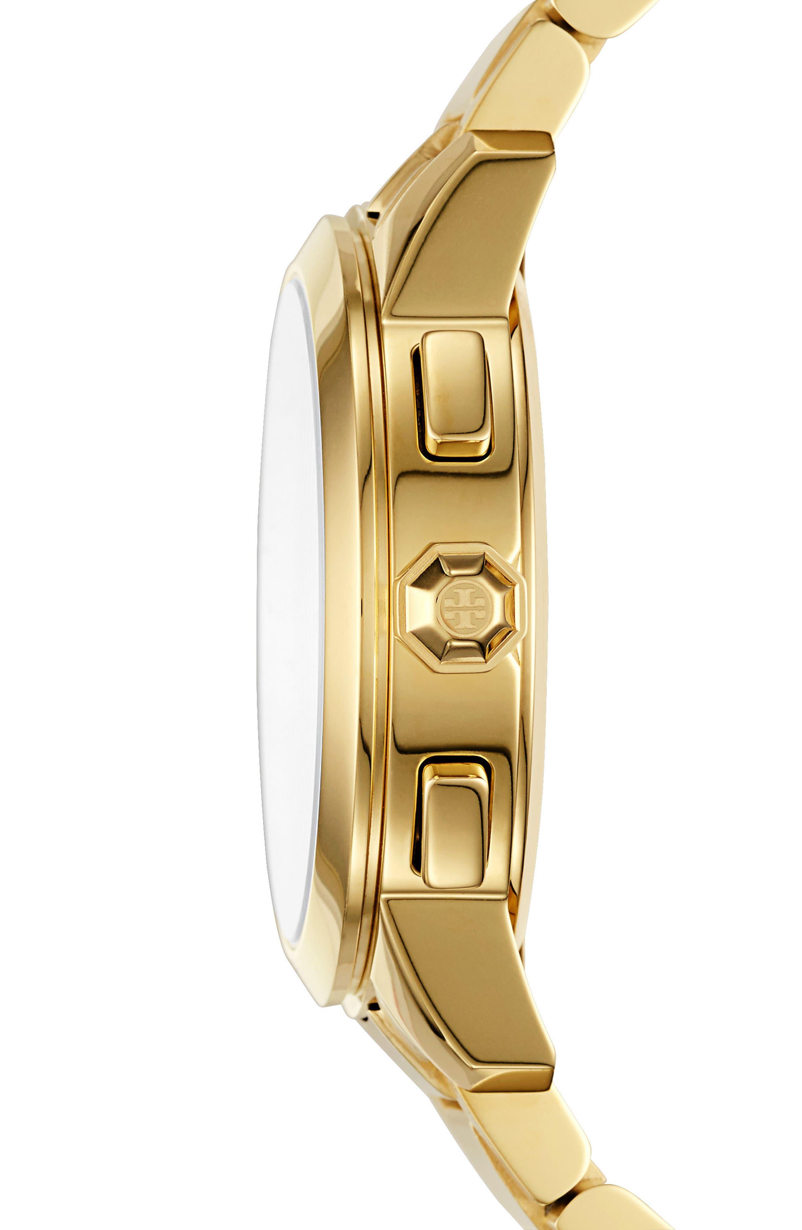 Alternate Image 2  - Tory Burch Collins Chronograph Bracelet Watch, 38mm