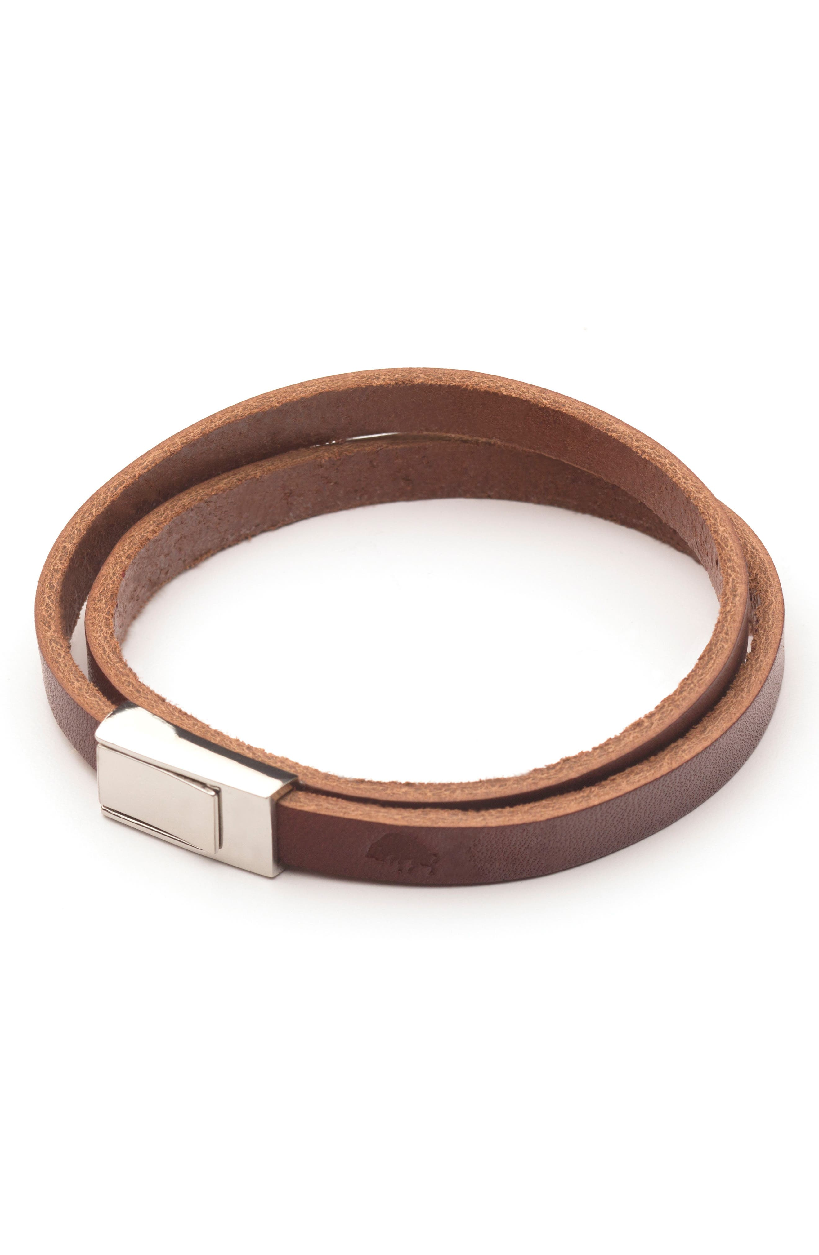 Ezra Arthur Double Wrap Leather Bracelet