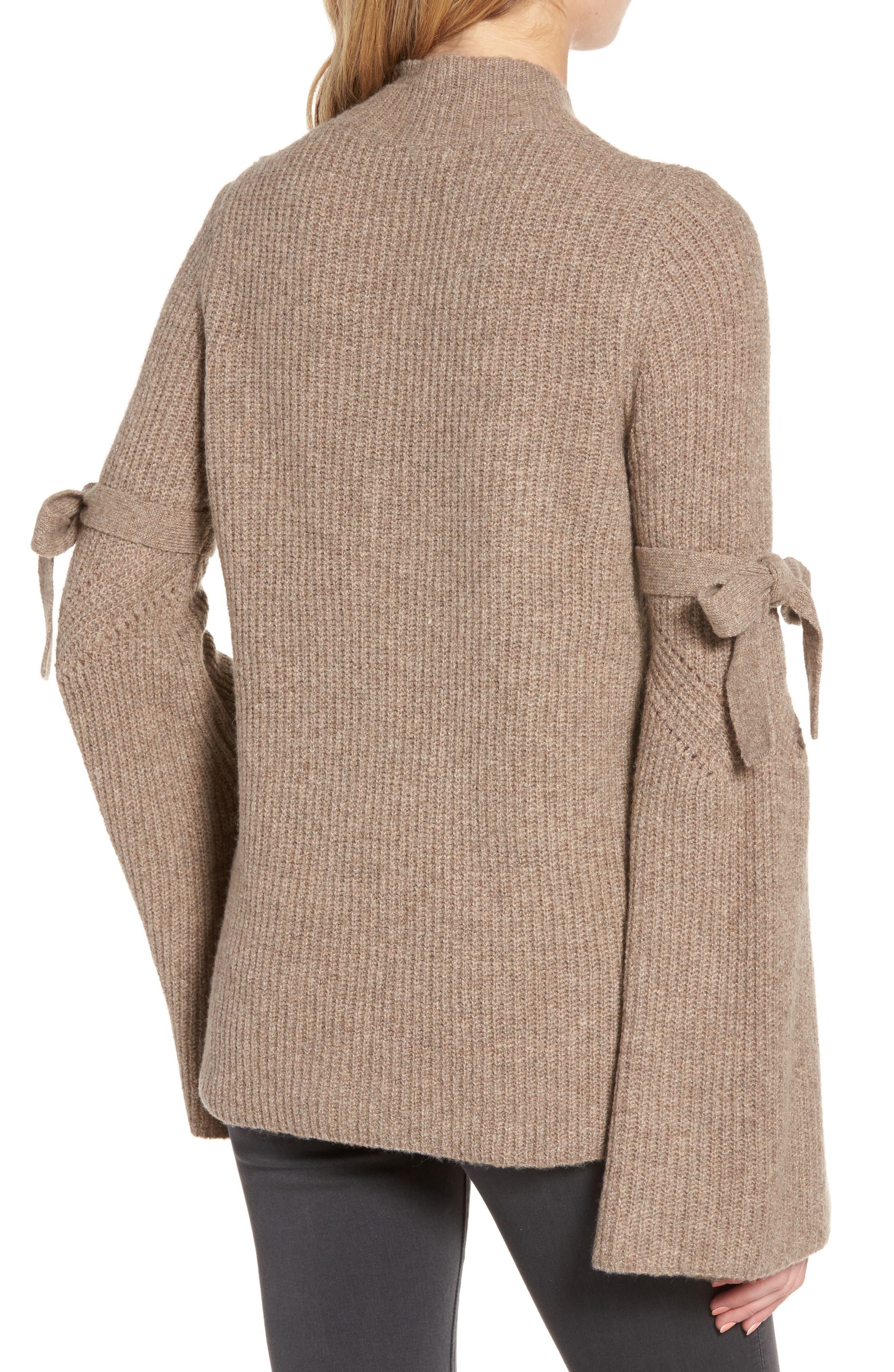Alternate Image 2  - Chelsea28 Tie Bell Sleeve Sweater