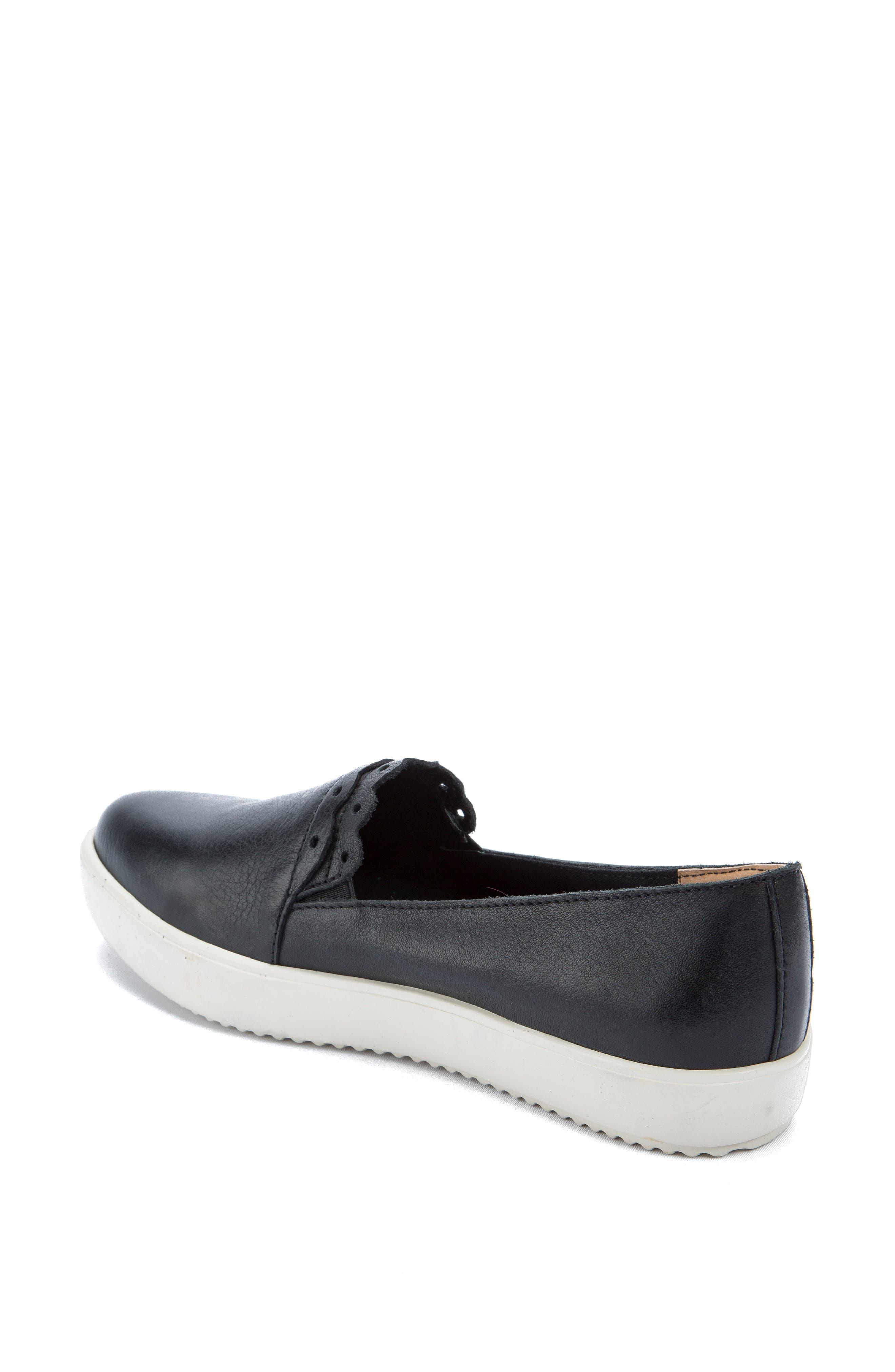 Roe Slip-On Sneaker,                             Alternate thumbnail 2, color,                             Black